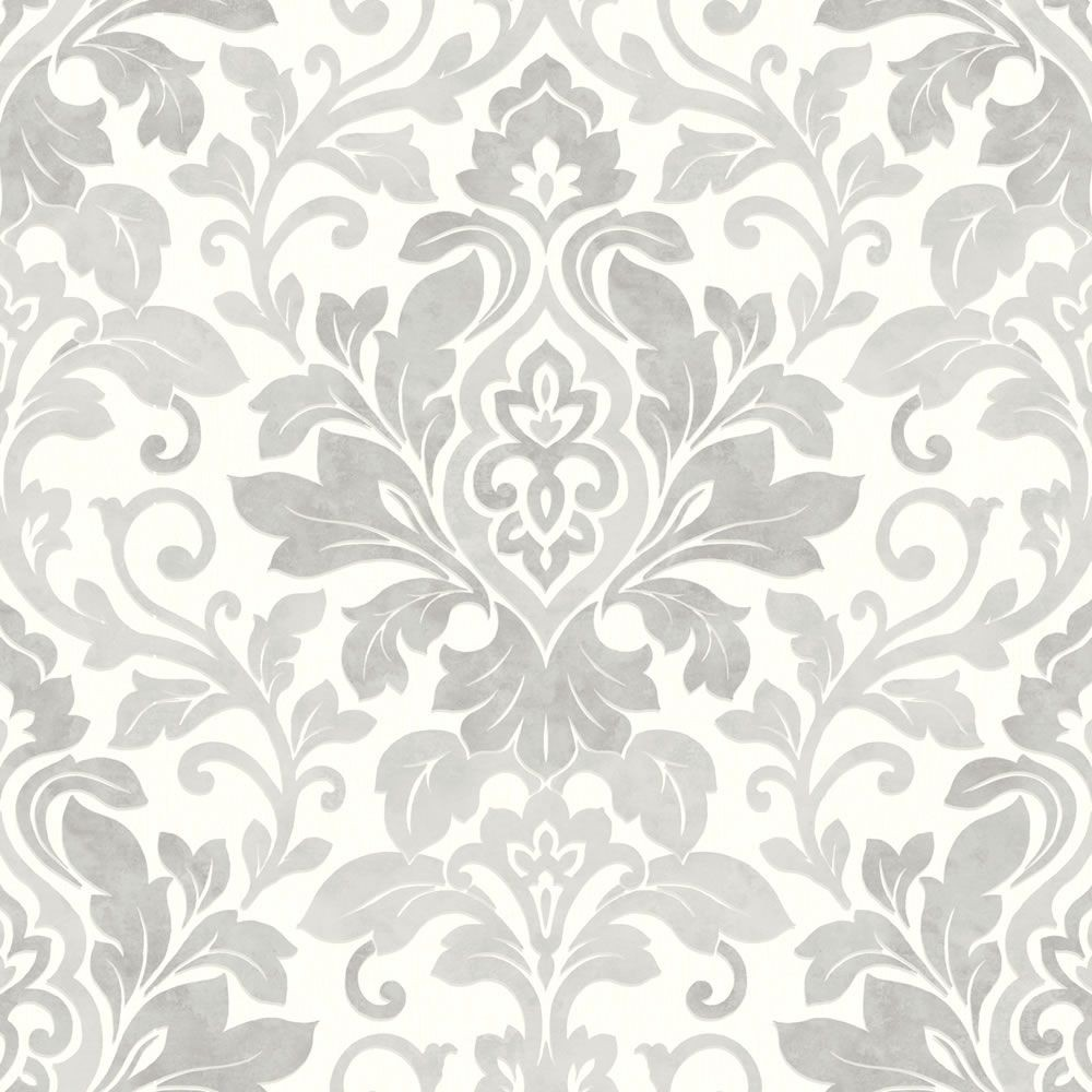 44 Grey Damask Wallpaper On Wallpapersafari
