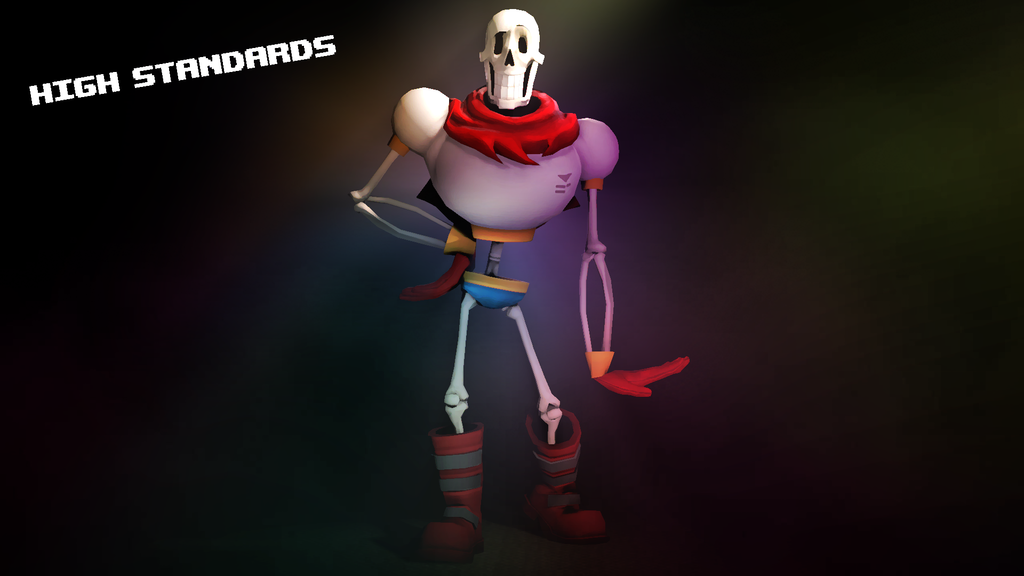 Undertale papyrus v2 poster by Dr dash 1024x576