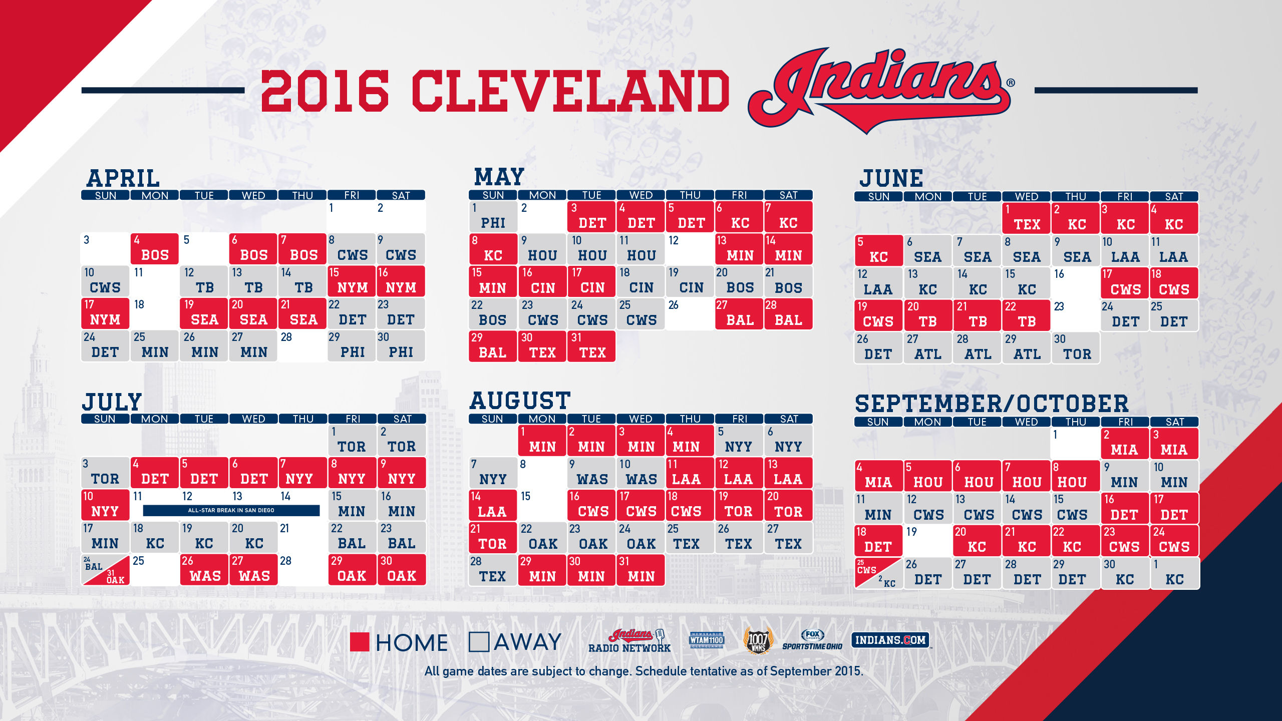 Wallpapers and Covers Cleveland Indians 2560x1440