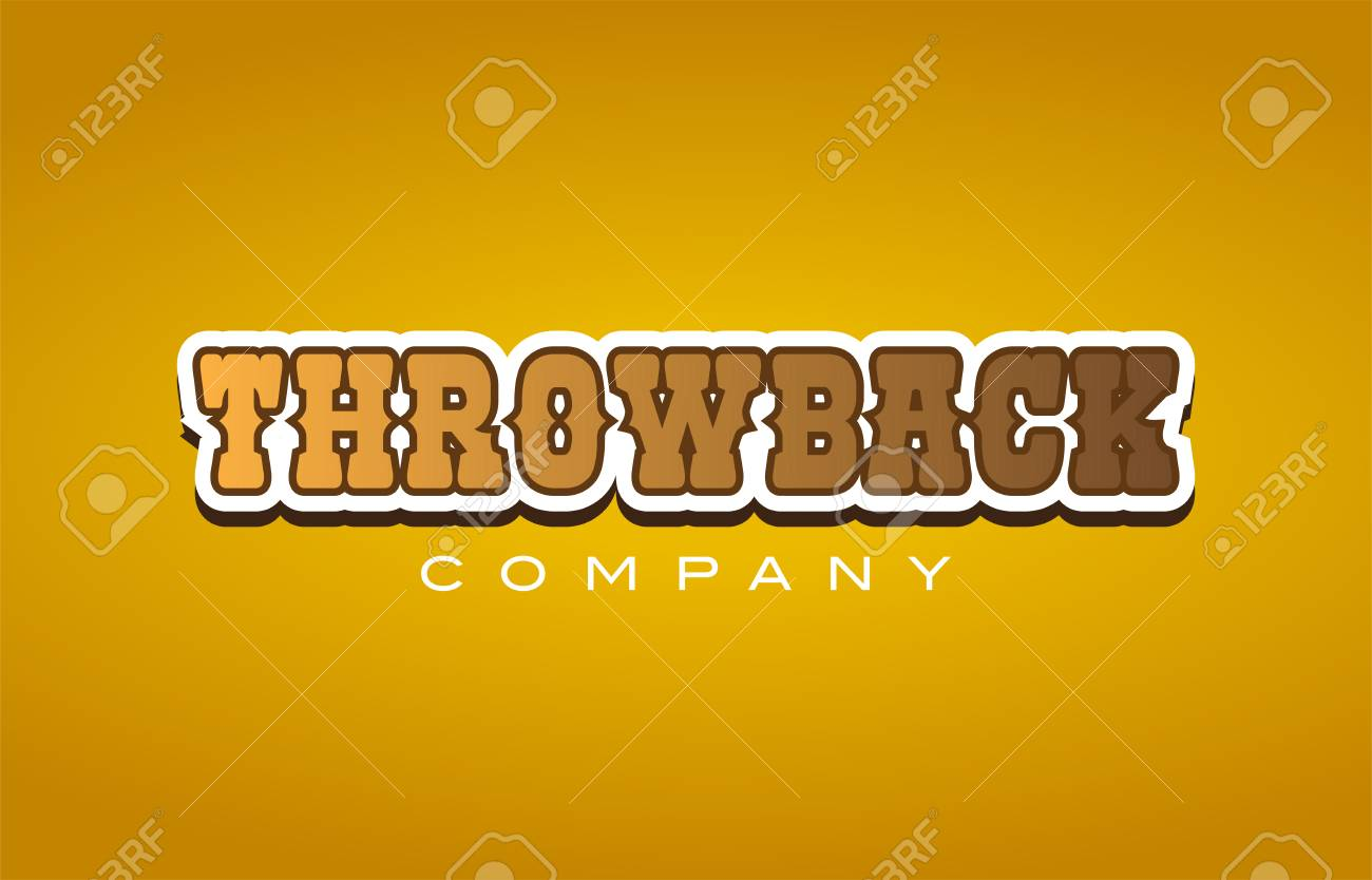 Company Western Style Throwback Throw Back Text Word Logo Design 1300x834