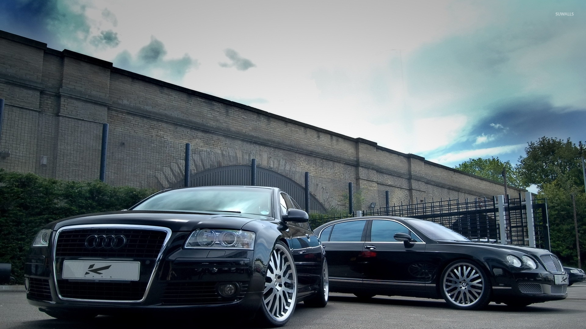 Audi A8 and Bentley Continental wallpaper   Car wallpapers   9319 1920x1080