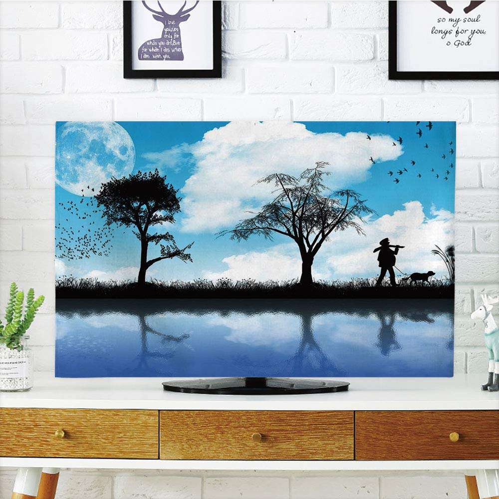 Amazoncom LCD TV Cover LovelyNatureMan with The Dog Walking by 1000x1000