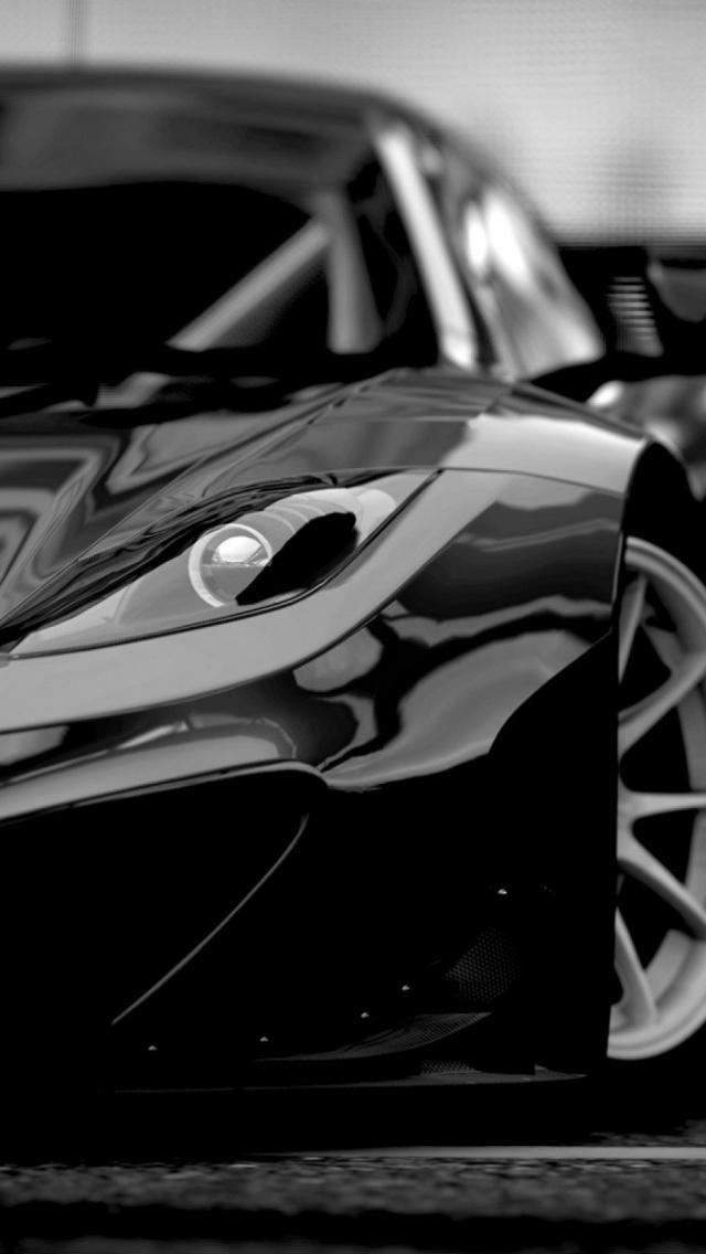 Black Super Sports Car iPhone 5 Wallpaper HD   Download 640x1136