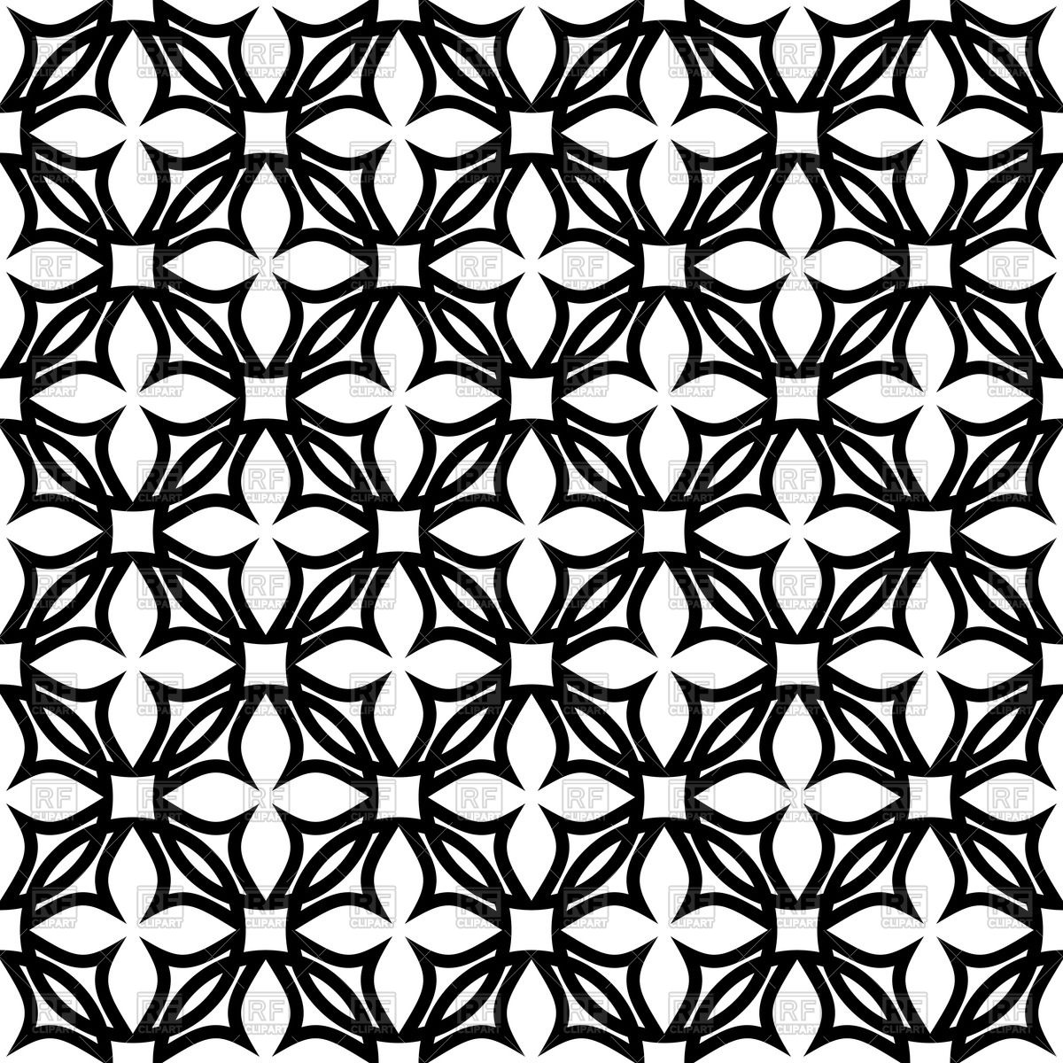 Black and white geometric pattern with symbolic flowers 47996 1200x1200