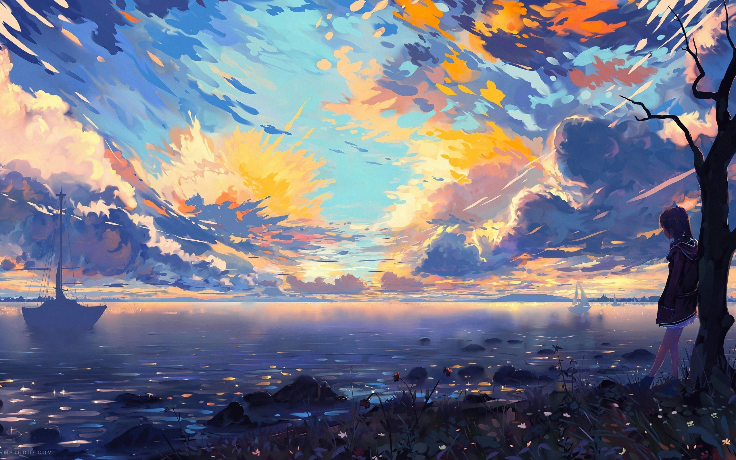 Colorful Anime Scenery Wallpapers   Top Colorful Anime 2560x1600