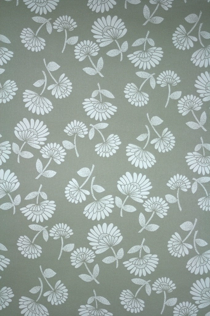 Modern Grey and White Floral Wallpaper   Retro Wallpaper 683x1024
