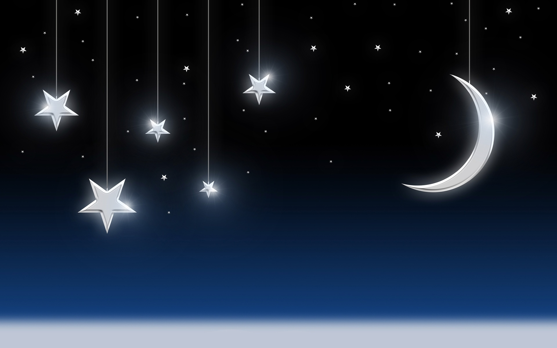 Sky With Moon And Stars 1920 x 1200 Download Close 1920x1200