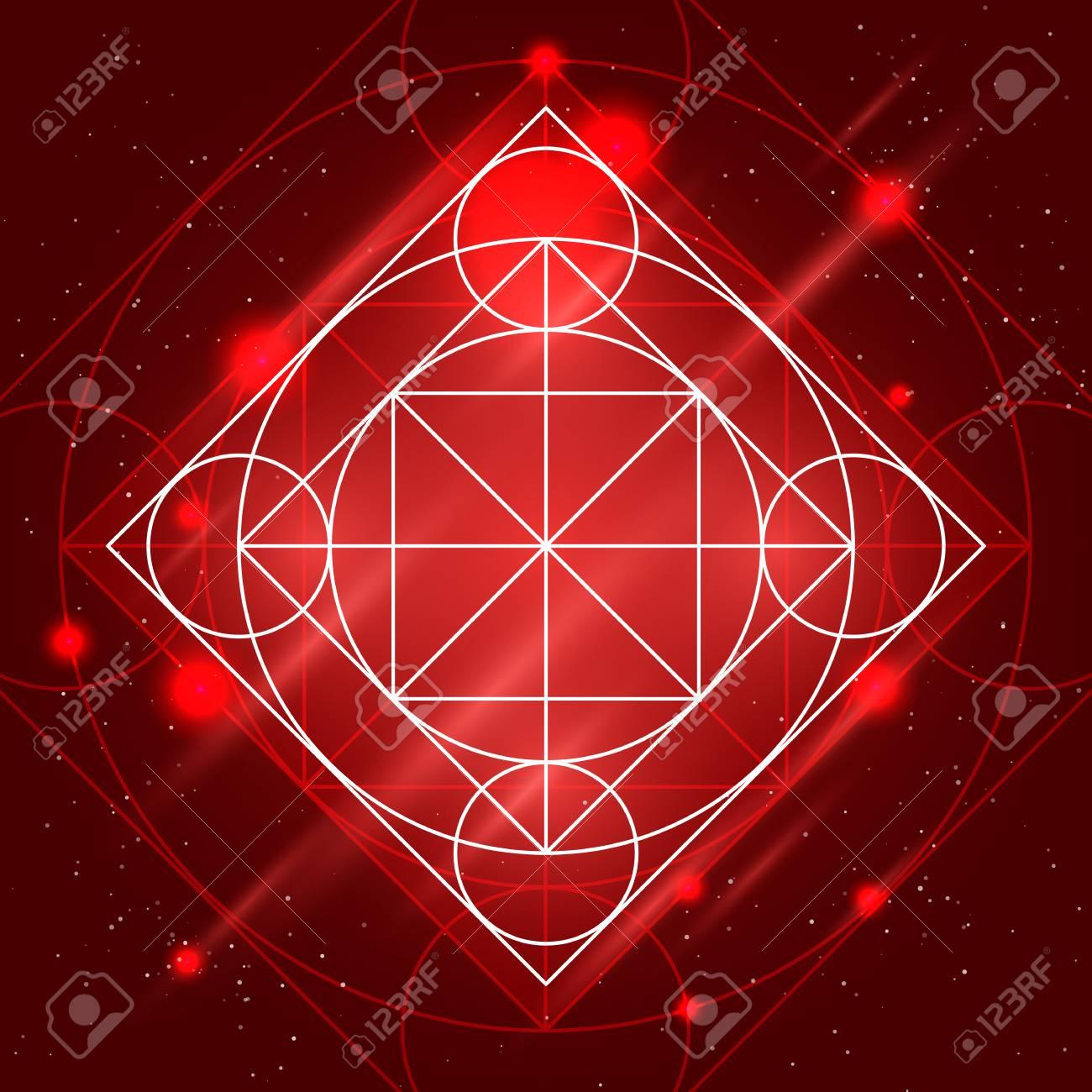 Magic Geometry Sign Alchemy Mystical Symbol On Space Background 1300x1300