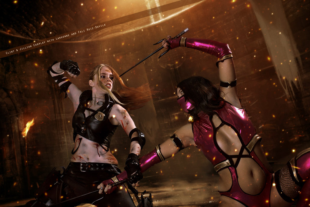 Sonya Blade and Mileena   Mortal Kombat by WhiteLemon 1024x683