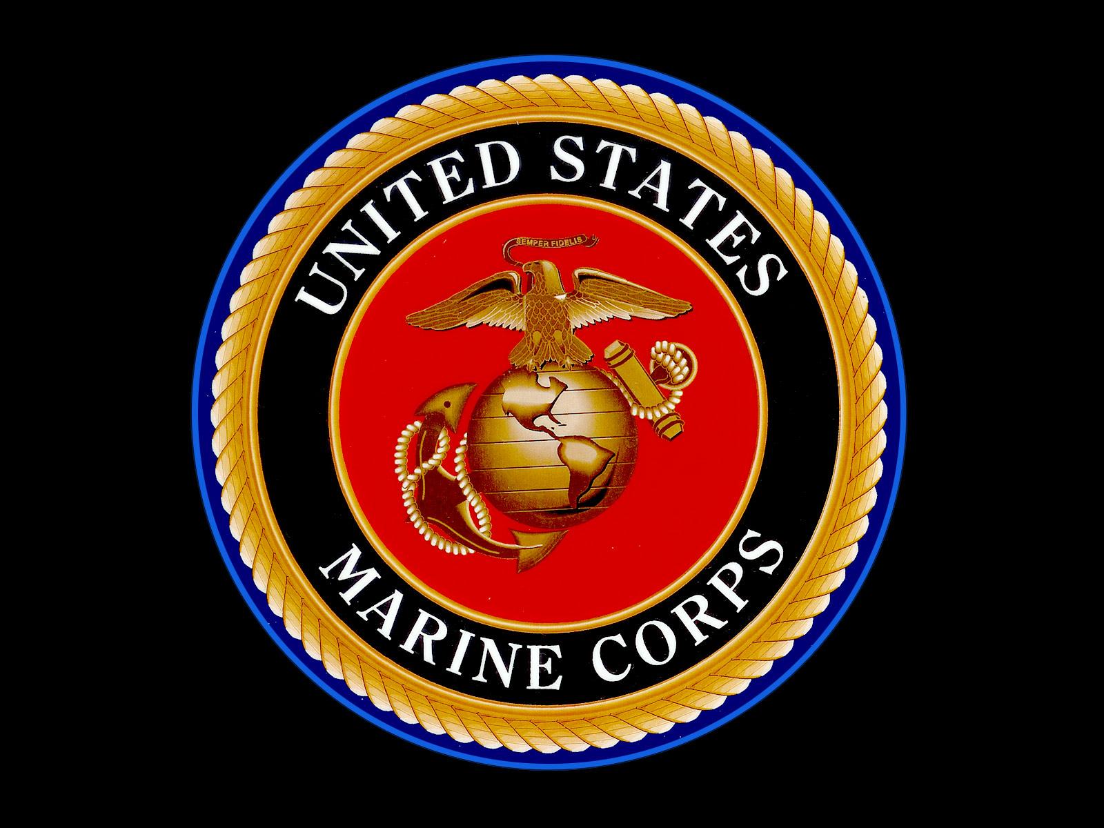 Go Back Images For Marines Logo Wallpaper 1600x1200
