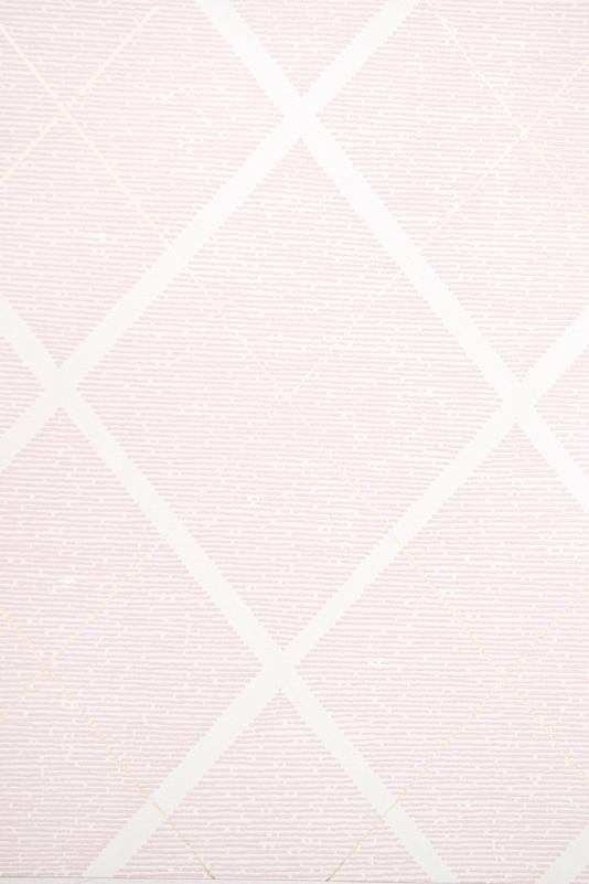 Trellis Wallpaper Pink and White diamond trellis childrens wallpaper 534x801