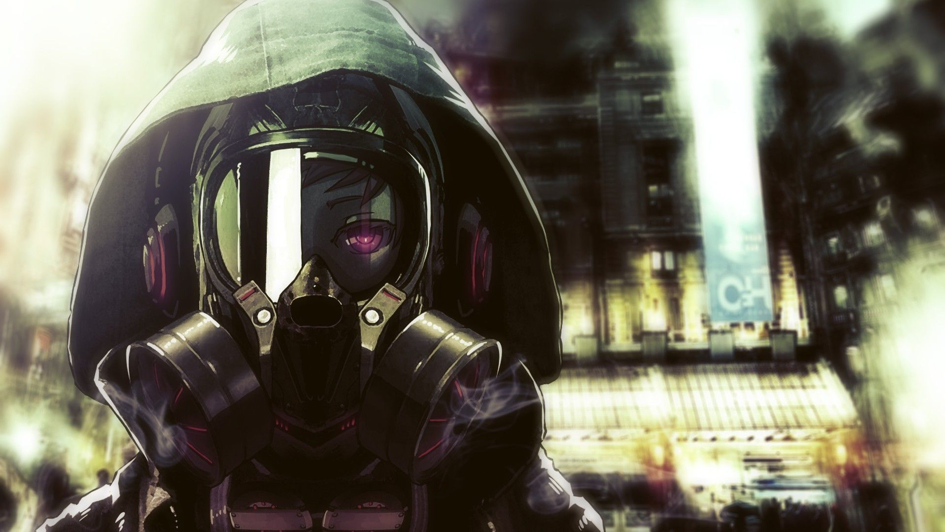 46 Anime Gas Mask Wallpaper On Wallpapersafari