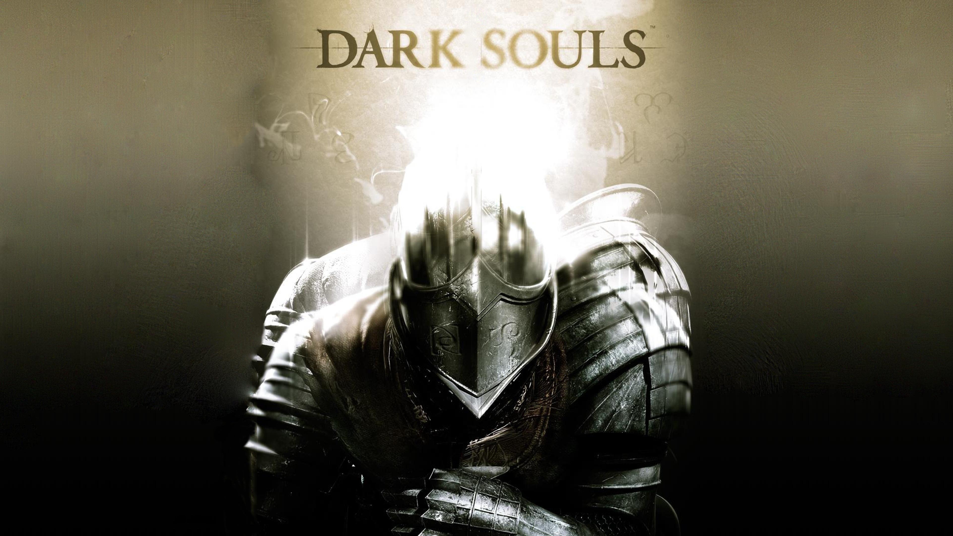 Download Wallpaper 3840x2160 dark souls armor light helmet 4K Ultra 3840x2160