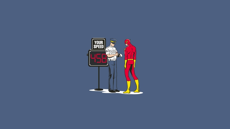 police funny the flash flash comic hero 1920x1080 wallpaper 800x450