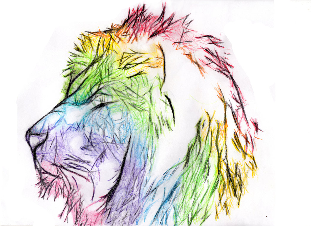 Lion rainbow by Eraliz 1049x762