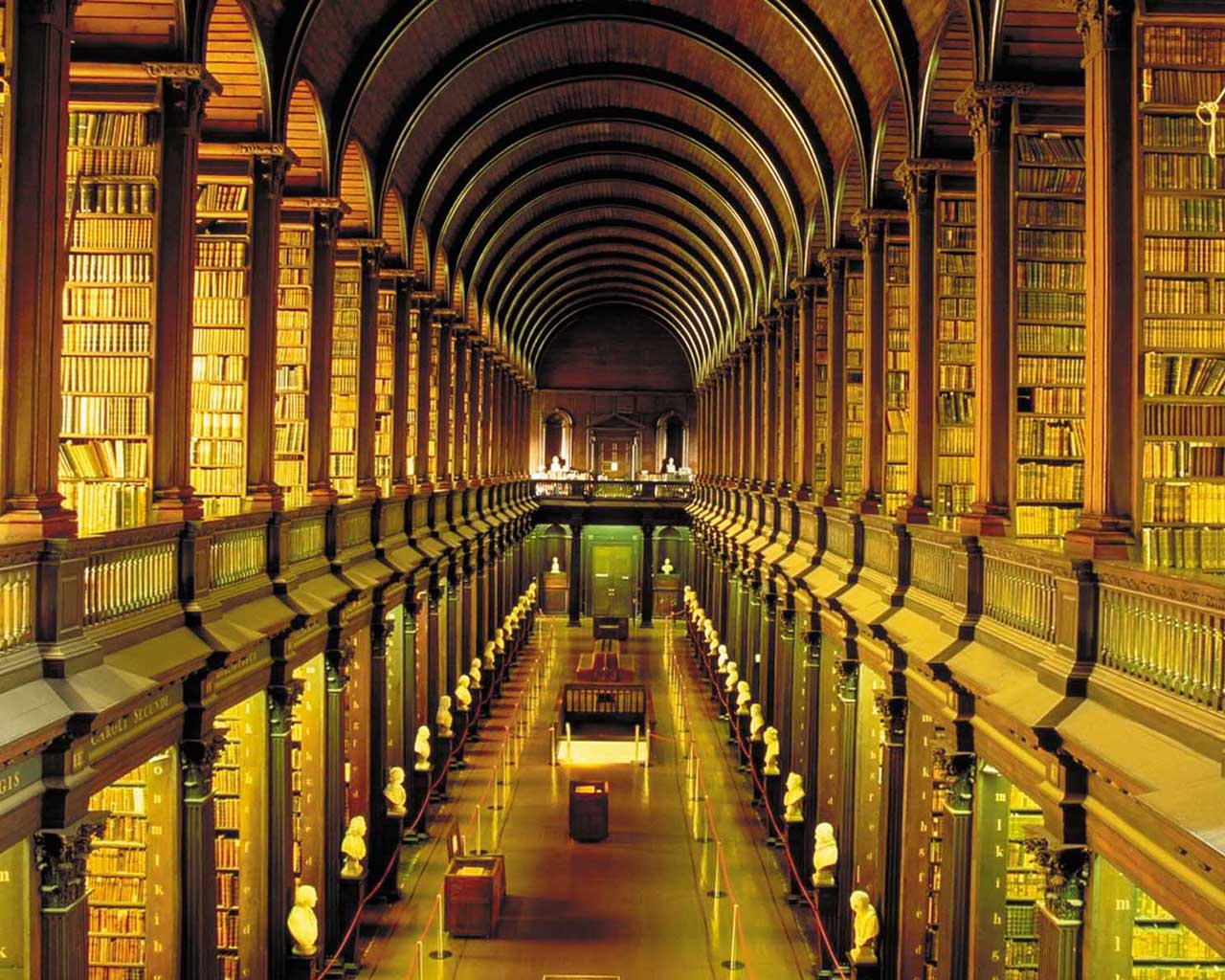 Free Download Trinity College Library 1280x1024 Wallpapers