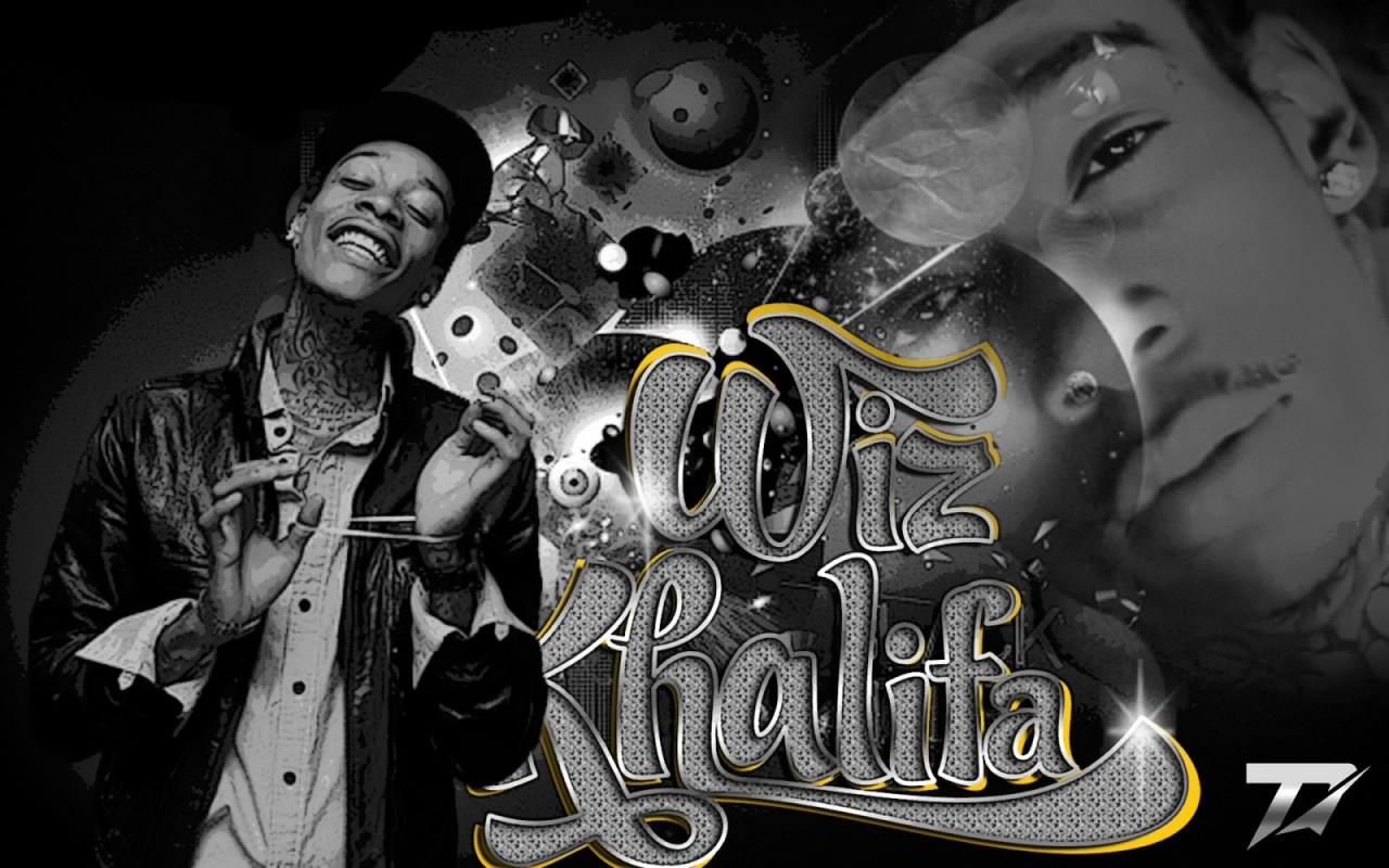 Download Rap Wallpapers Wiz Khalifa Name [1280x800]   71+