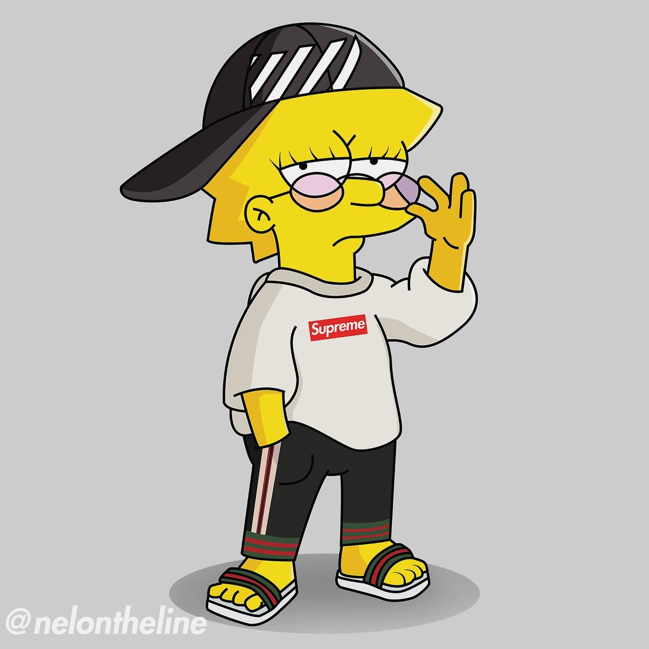 Supreme Bape Boy Gangsta Cartoons Wallpaper wwwgalleryneedcom 1280x1280