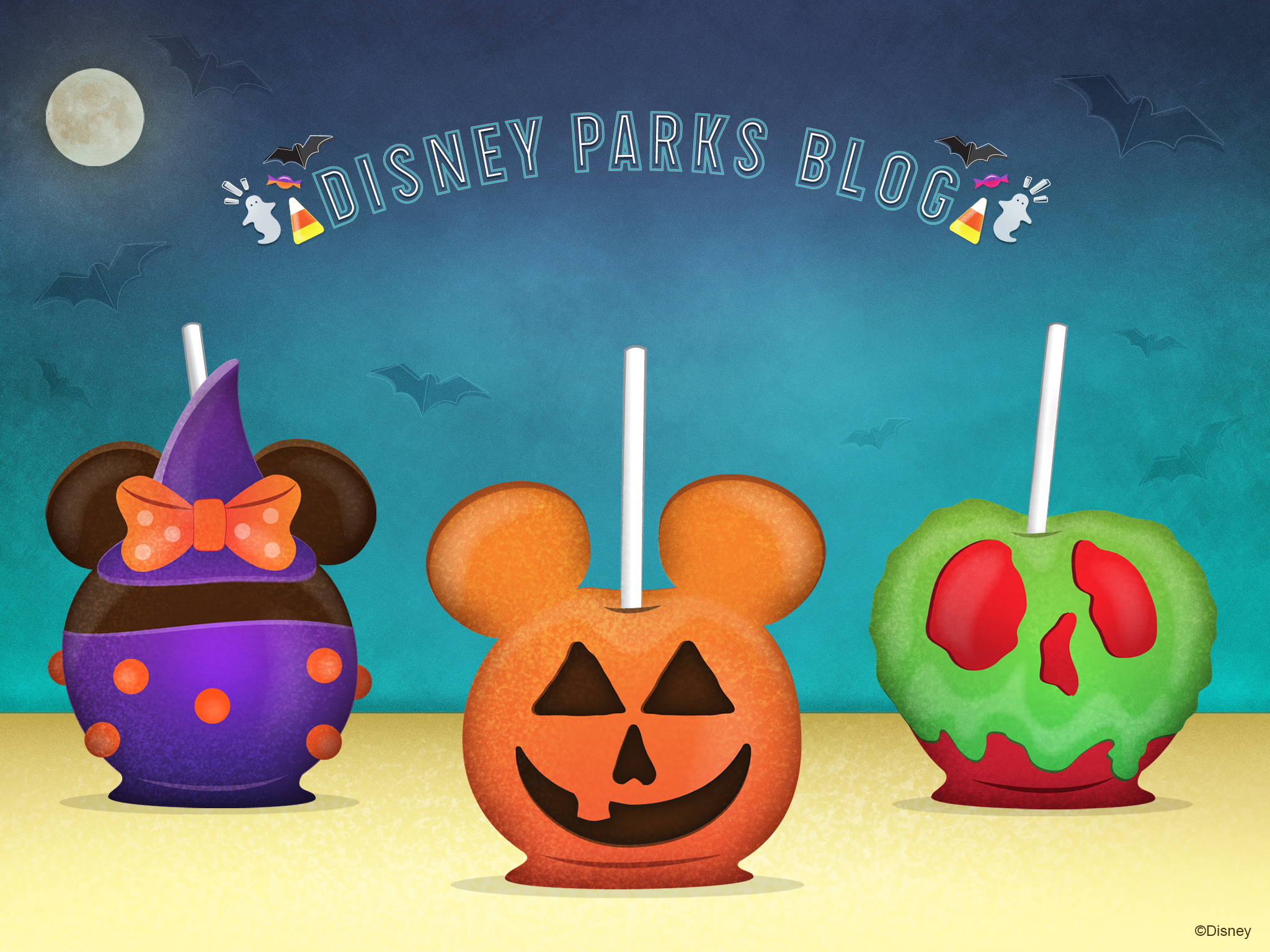 Halloween Candy Apples Wallpaper 2048x1536