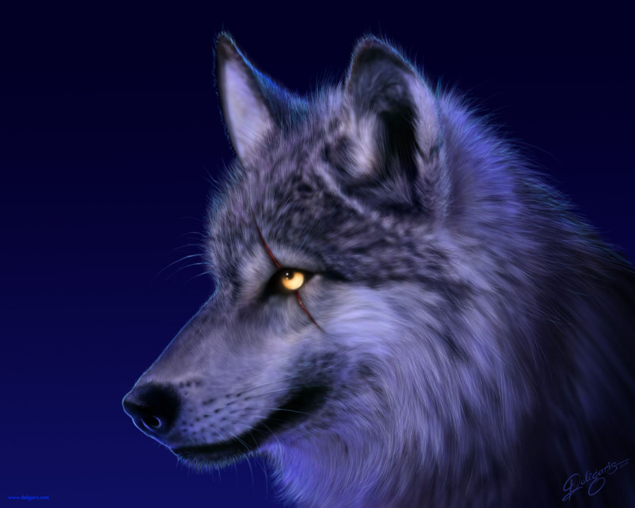 Wolf wallpaper by Deligaris 1280x1024