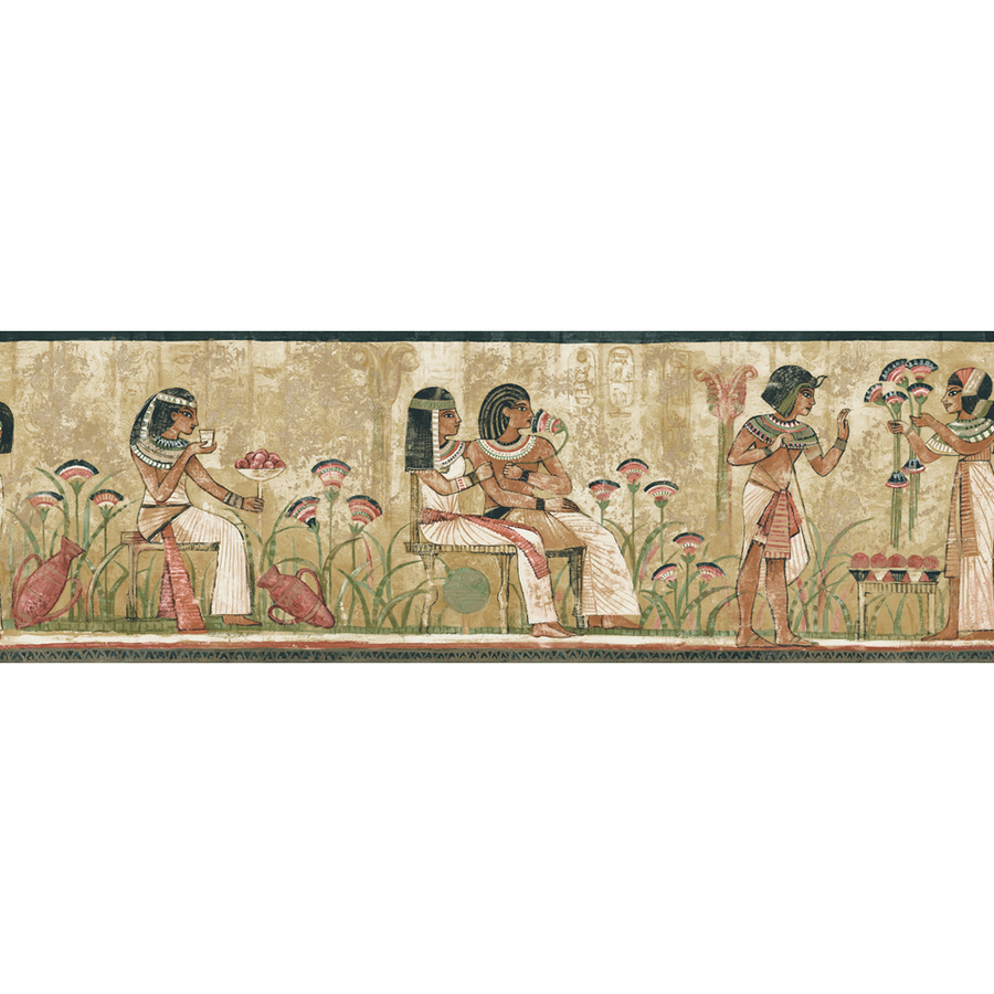Earth Tone Egyptian Prepasted Wallpaper Border at Lowescom 900x900