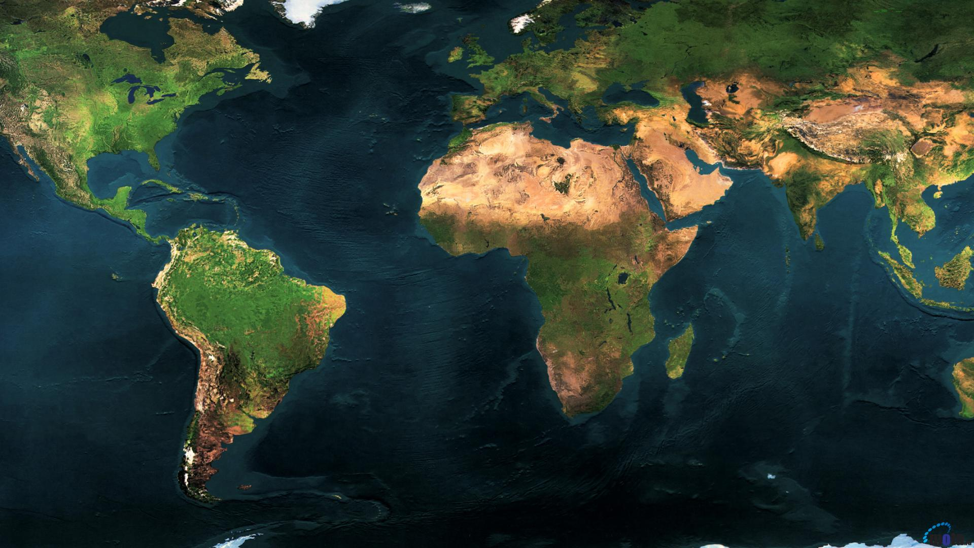 Download Wallpaper Earth Map Dual Monitor 1920 x 1080 HDTV 1080p 1920x1080