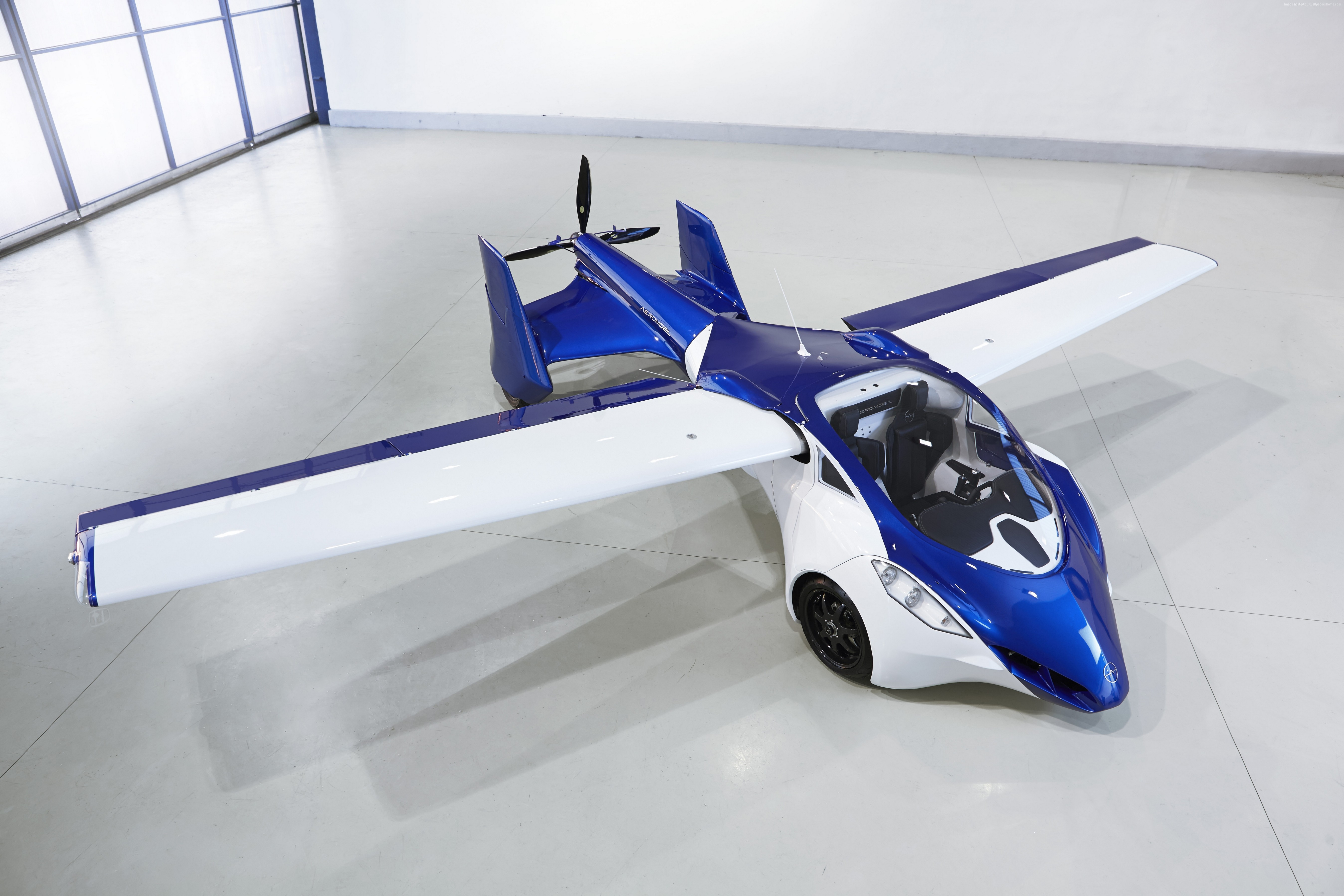 runway front car flying car AeroMobil 30 concept test 5391x3594