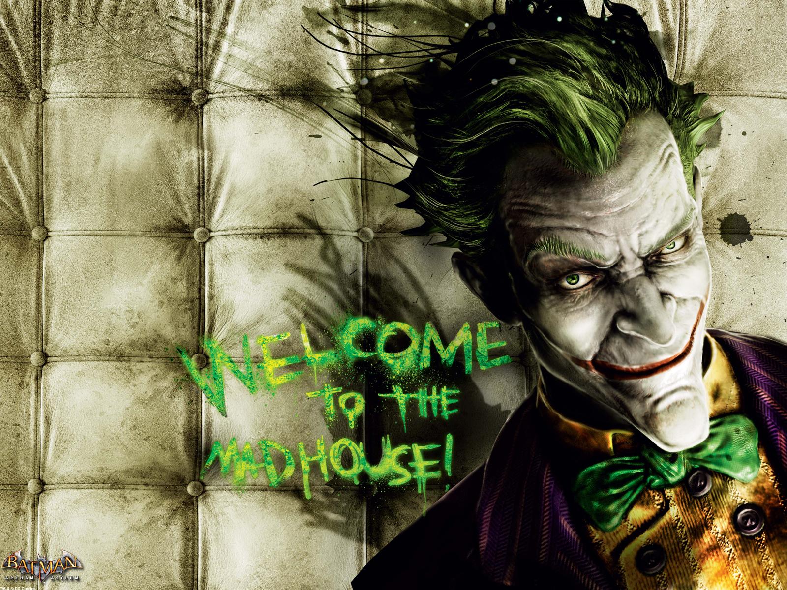 Pics Photos   The Joker Arkham Asylum Smiling Wallpaper 1600x1200