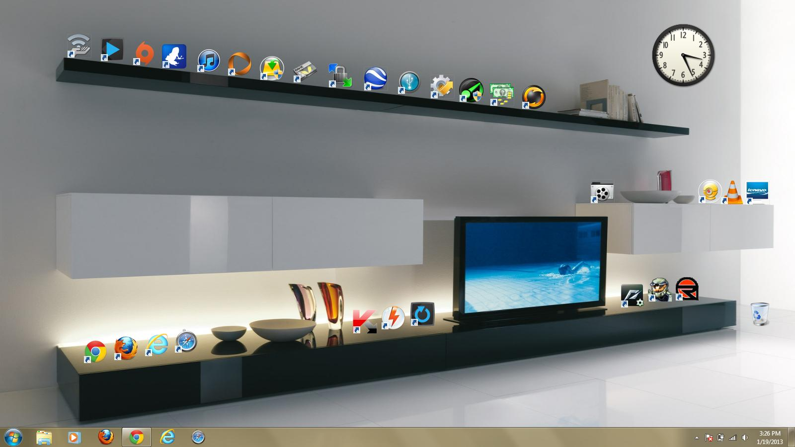 Creative Desktop Backgrounds Shelves The original wallpaper 1600x900