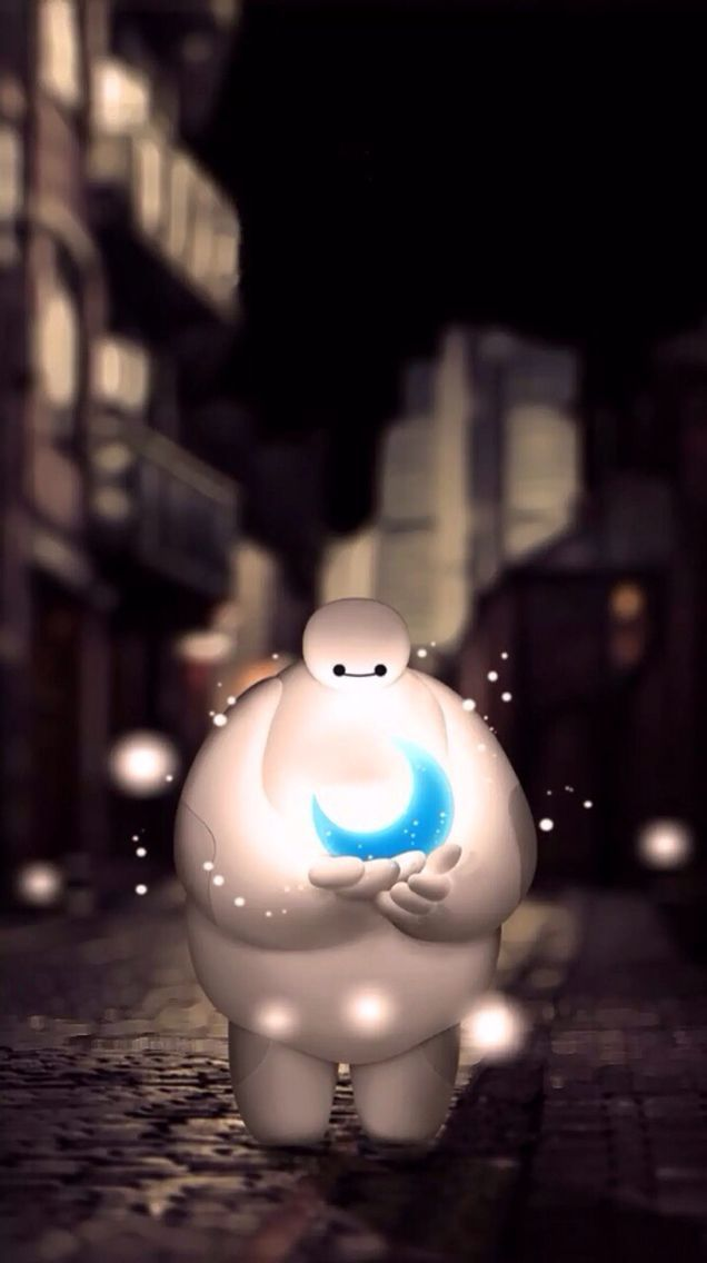 Baymax mit blauem Mond wallpapers and quotes in 2019 636x1136