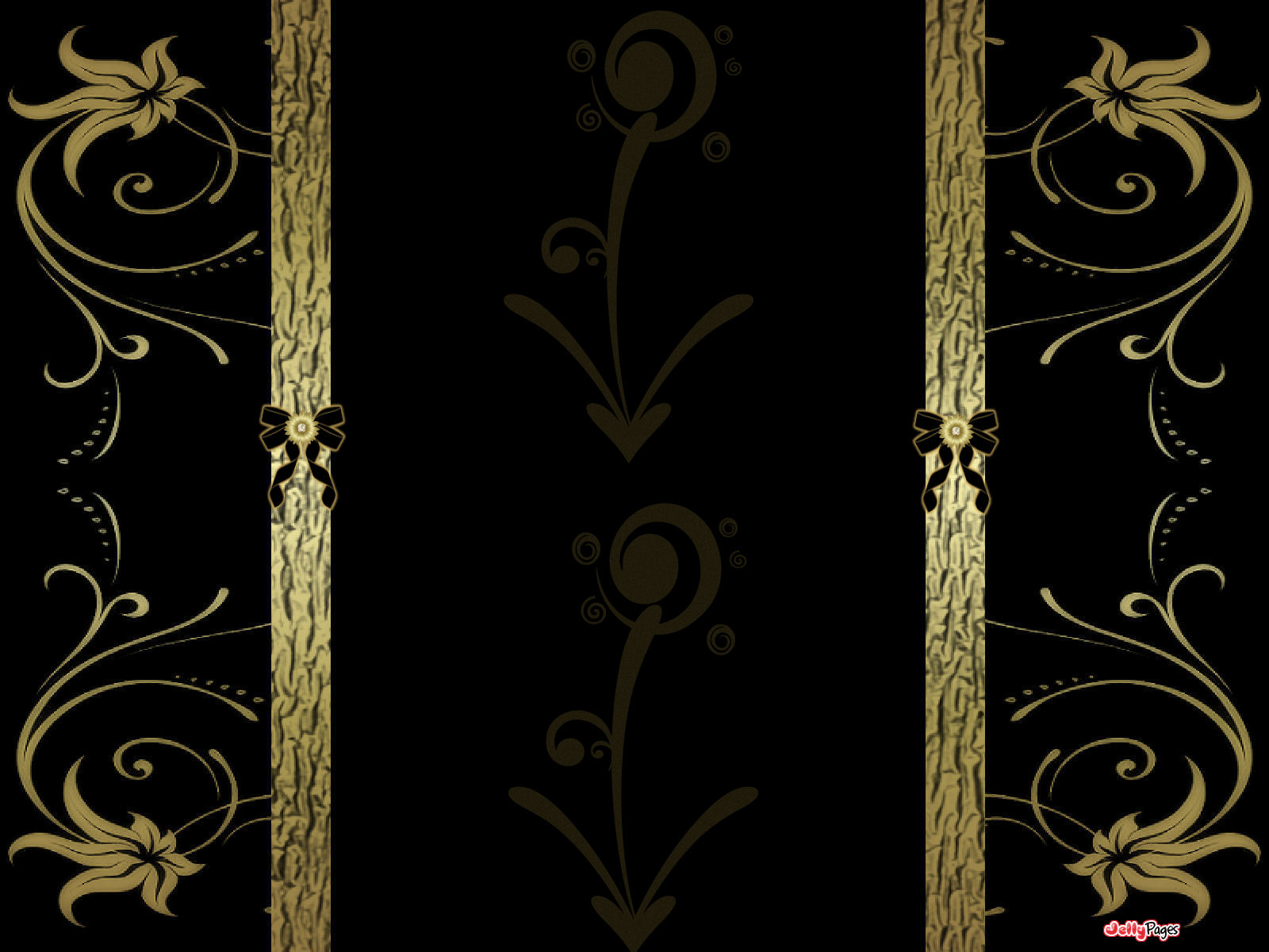 Elegant Gold And Black Wallpaper 1600x1200