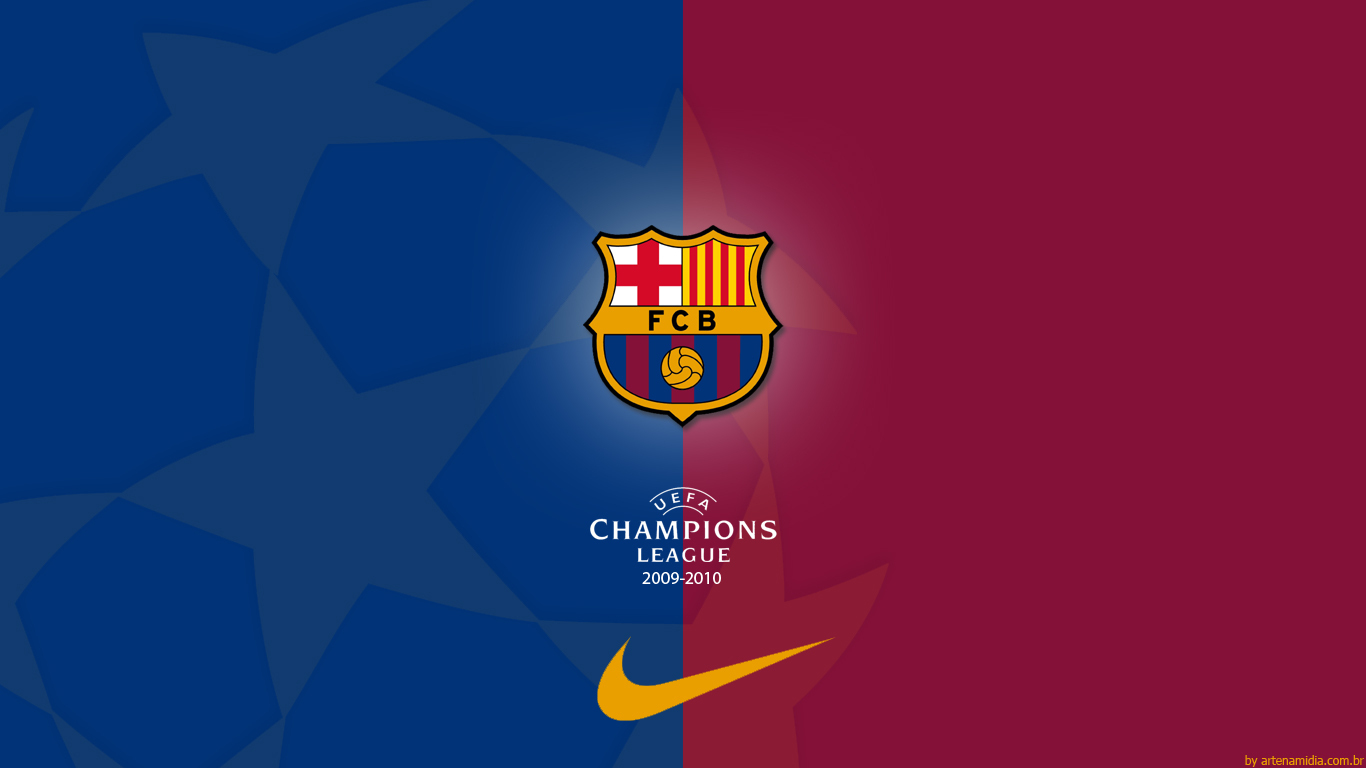 FC Barcelona FC Barcelona   Champions League Wallpaper 1366x768