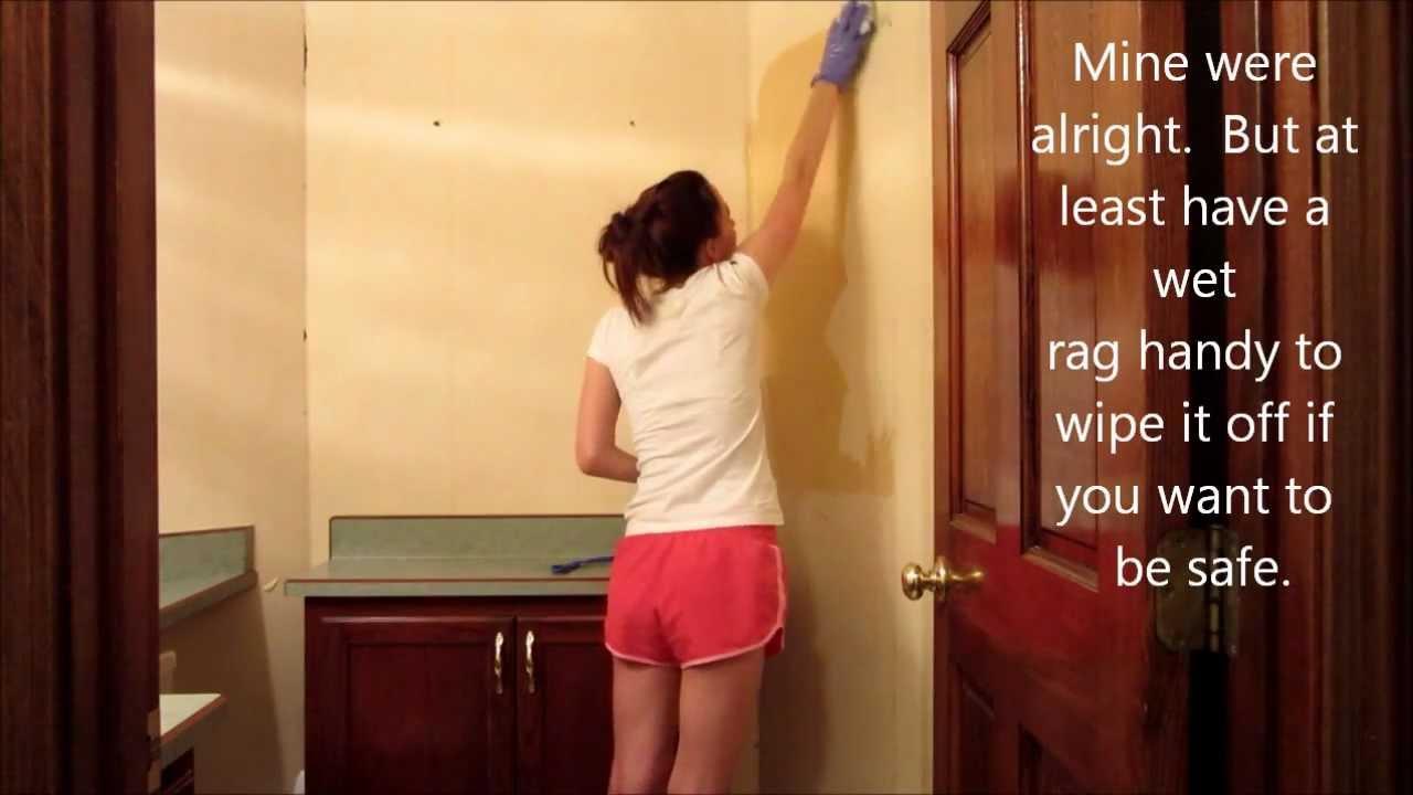 wallpaper paste removal vinegar
