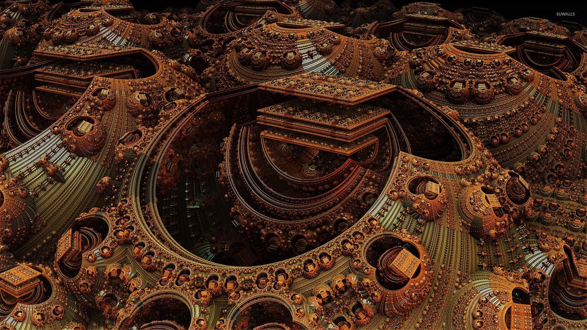 Fractal rusty design wallpaper   3D wallpapers   25276 1680x1050