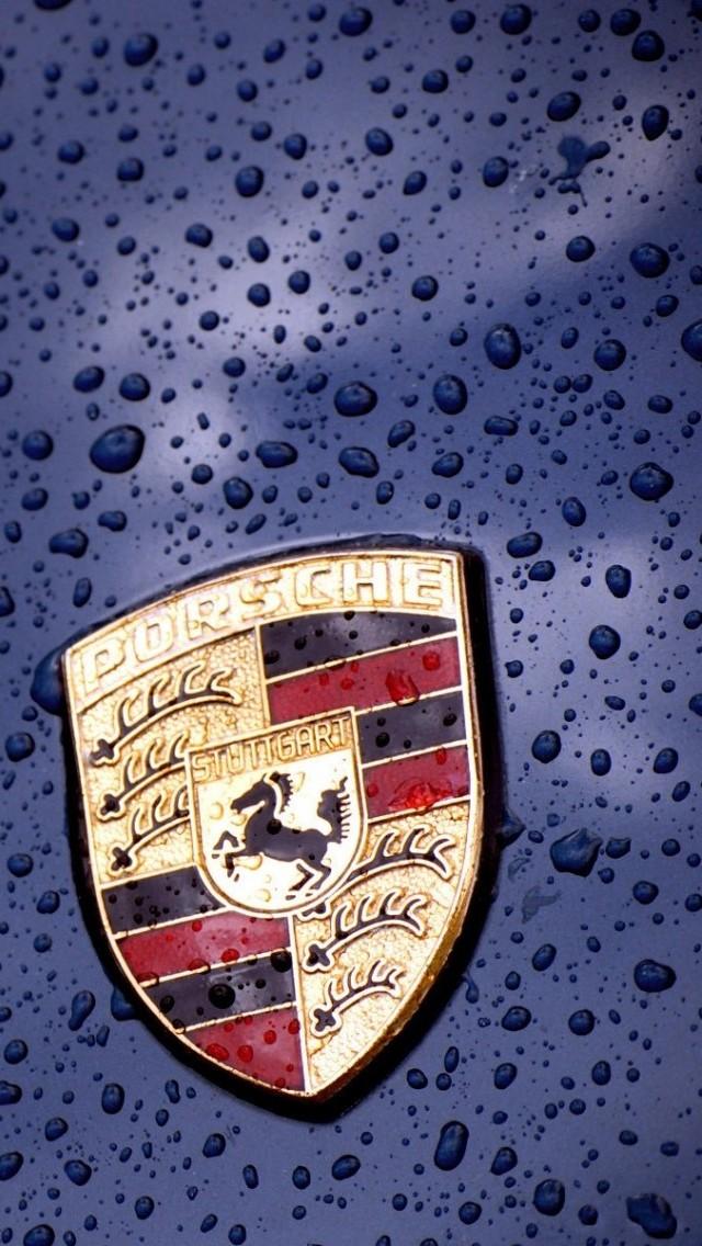 Porsche Logo Wallpaper   iPhone Wallpapers 640x1136