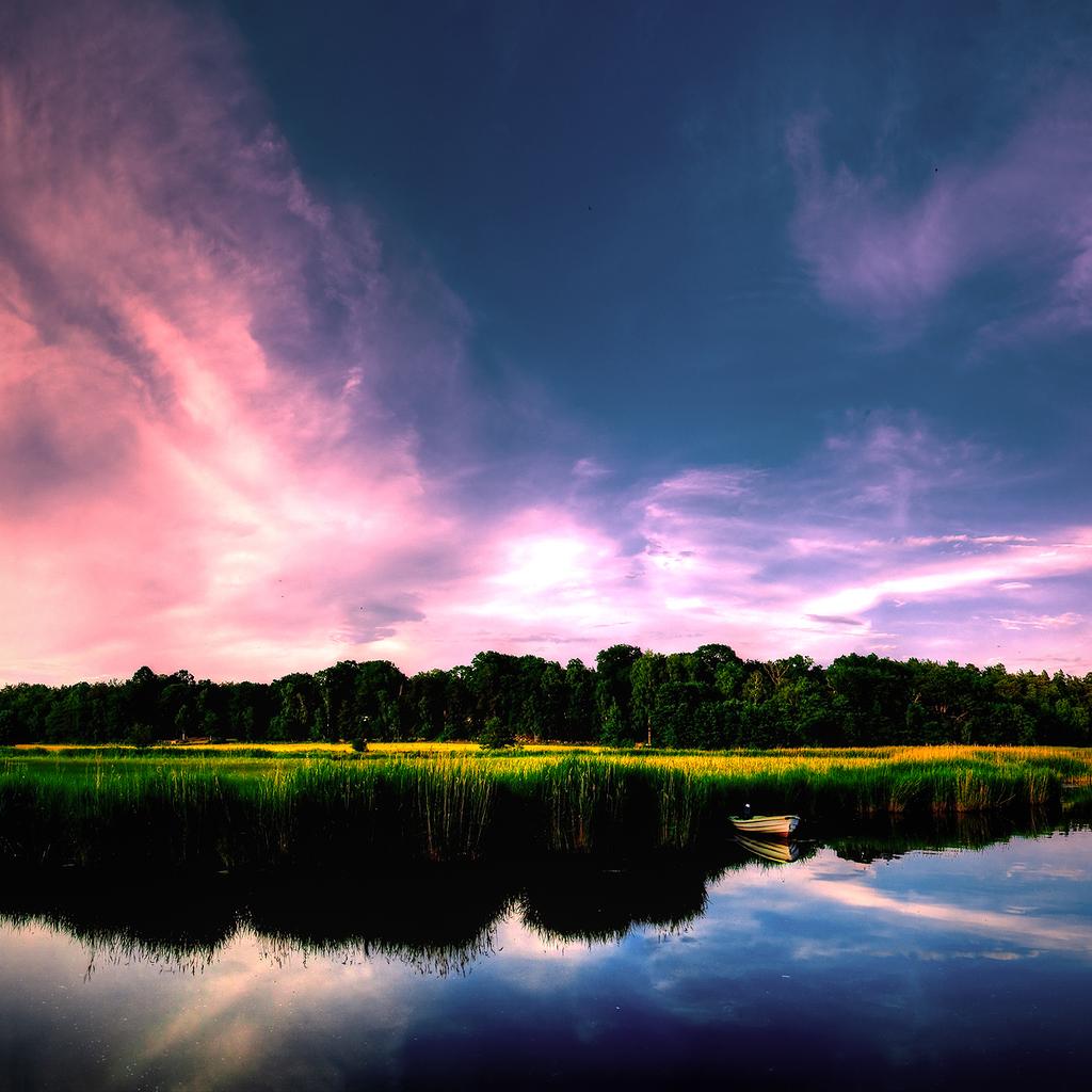 Pretty Sky iPad Wallpaper ipadflavacom 1024x1024