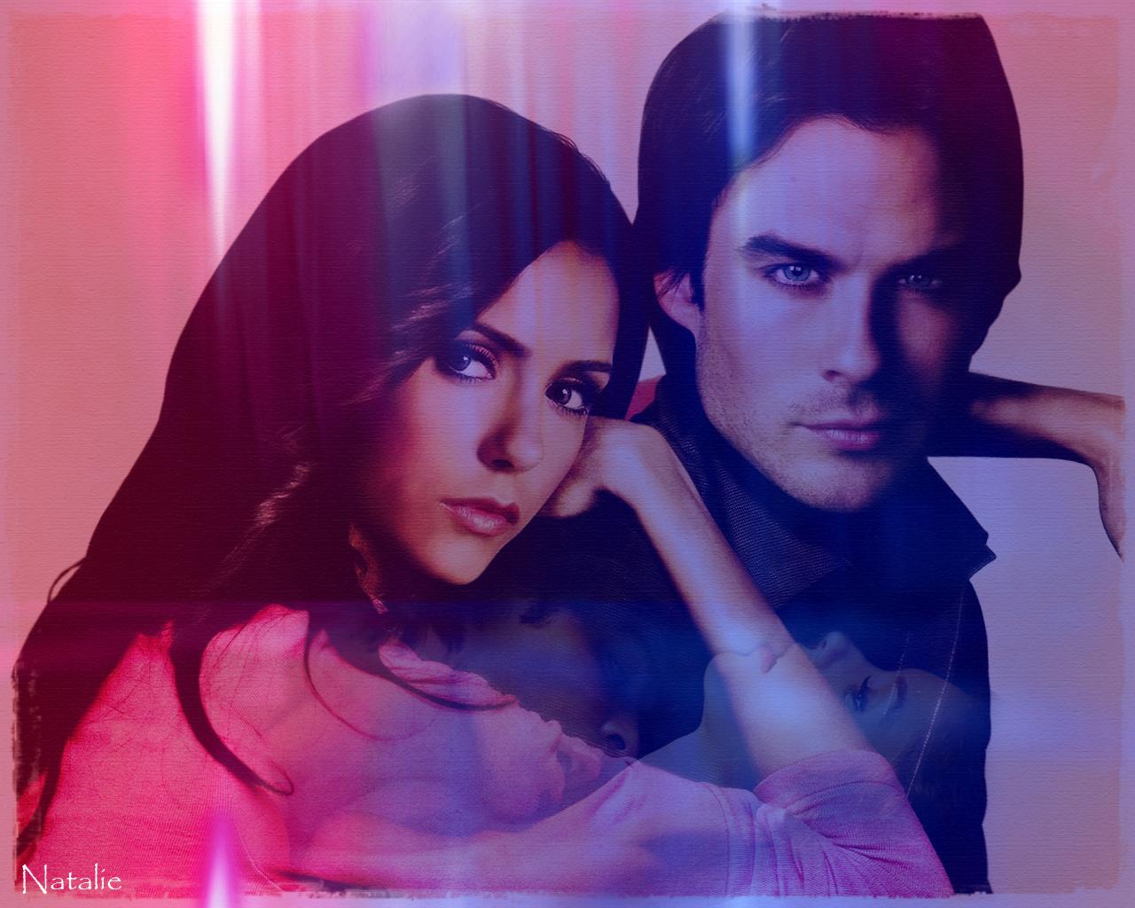 Elena Damon   The Vampire Diaries Wallpaper 17421713 1280x1024
