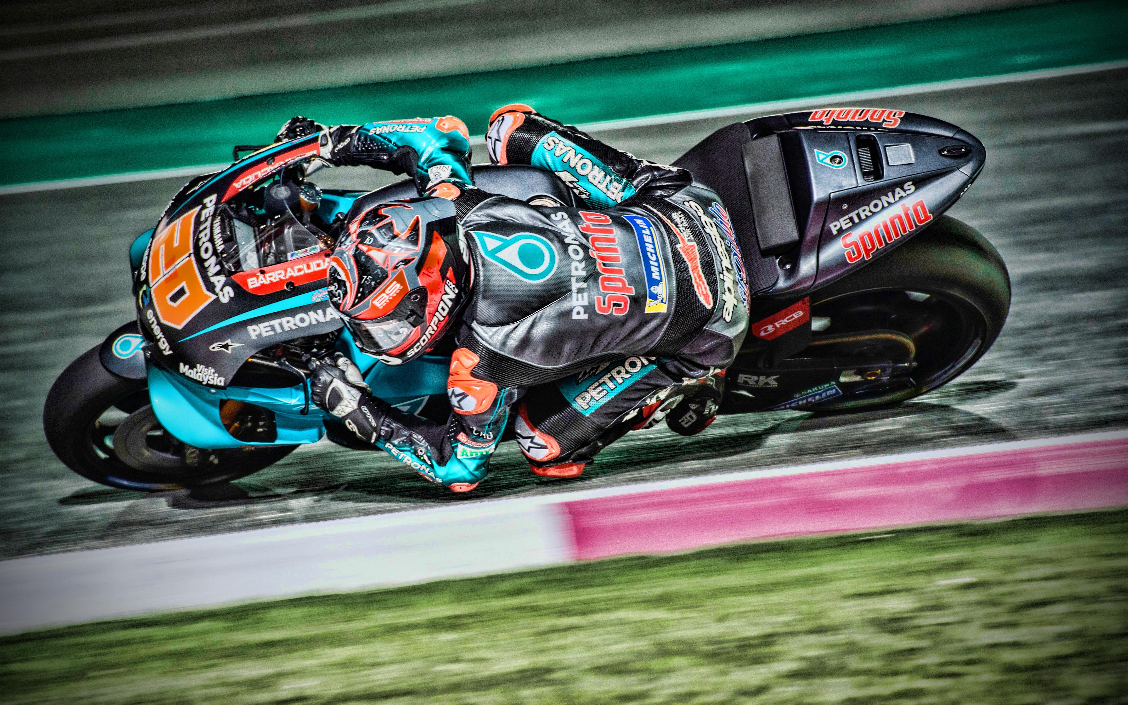 Download wallpapers Fabio Quartararo 4k MotoGP 2019 bikes 3840x2400