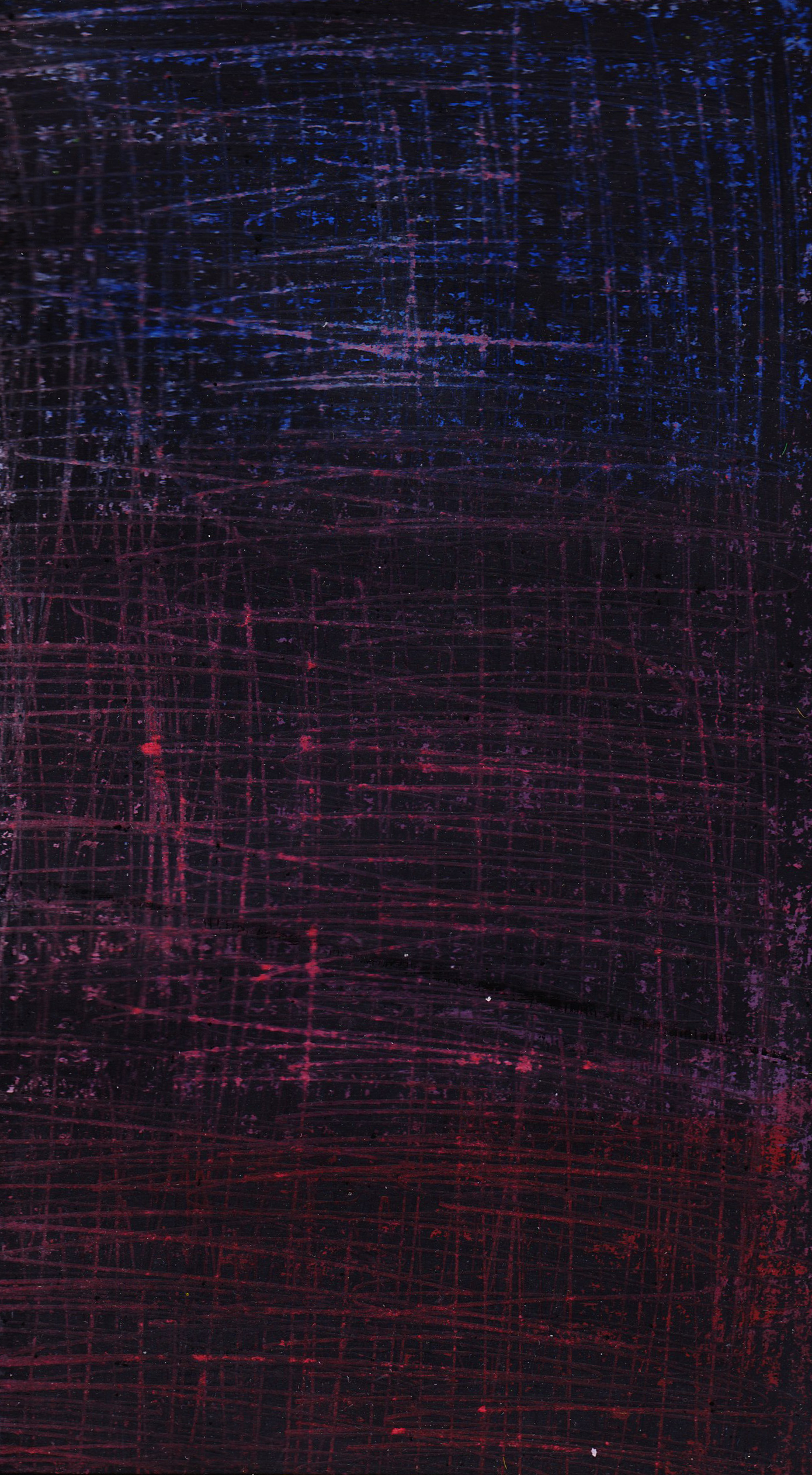 Blue purple and red abstract Gouache and chalk pastels blue 1390x2523
