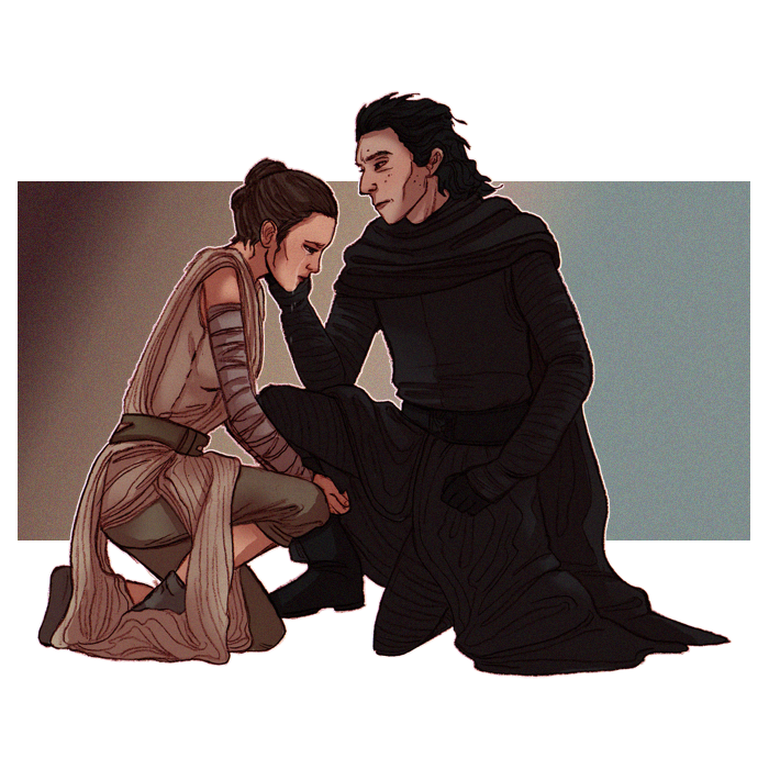 Rey and Kylo by Teq Uila 700x700