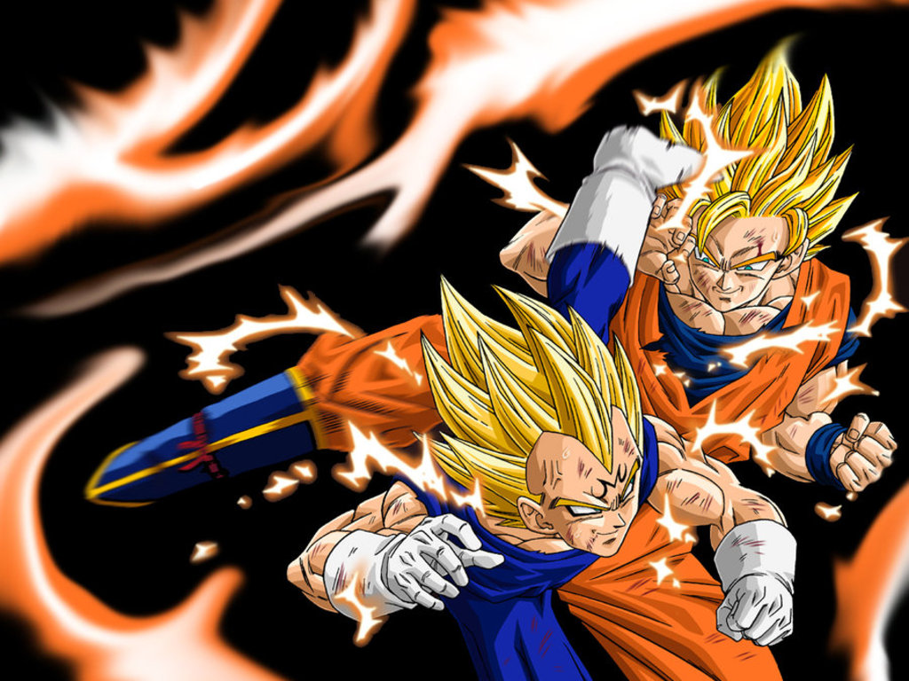 Free Download Goku Vs Majin Vegeta Dragon Ball Z Wallpaper