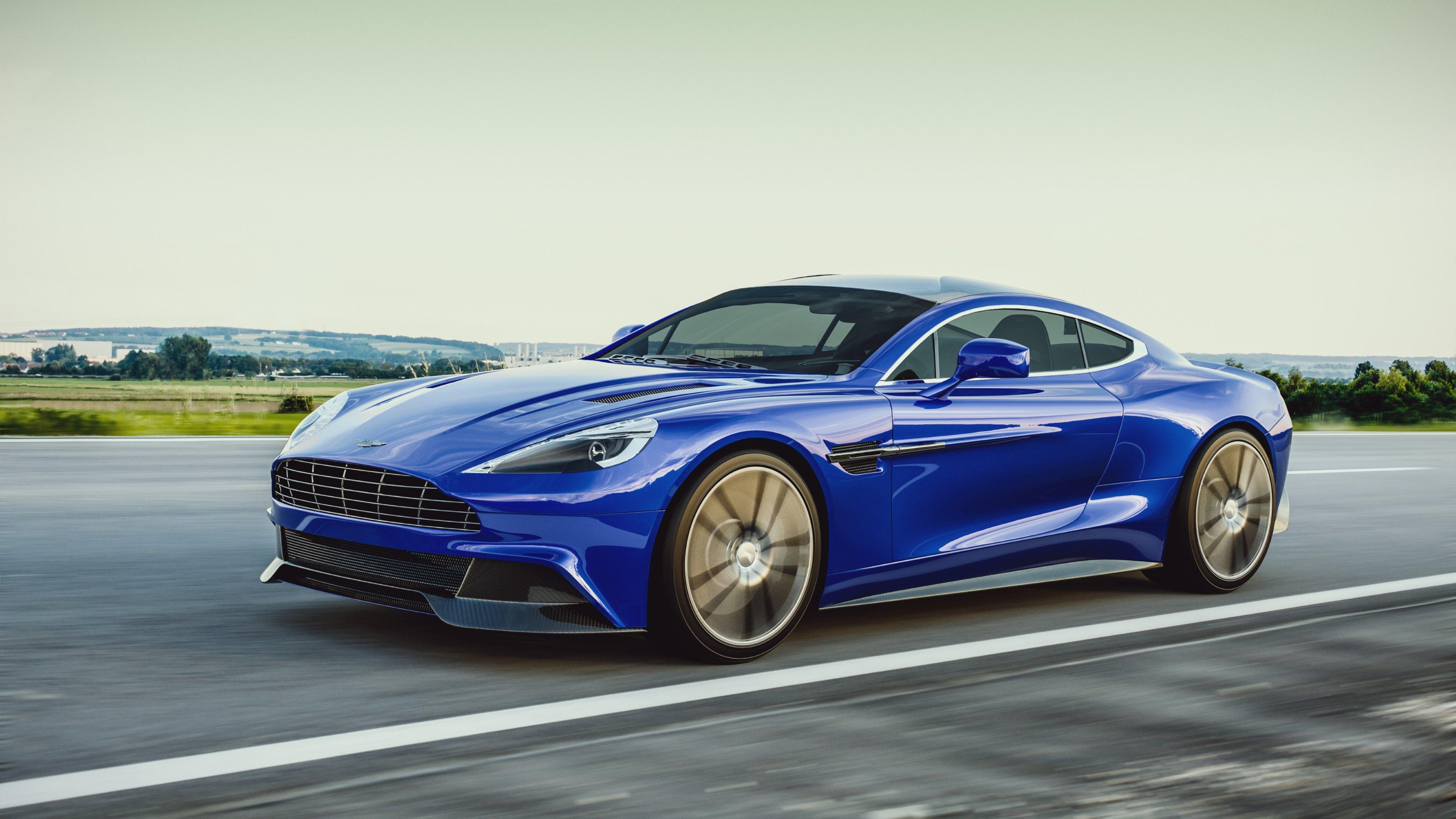 Car   Blue   Aston Martin Vanquish   Wallpaper 3840x2160