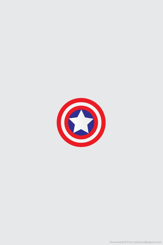 Download Minimal Captain America Shield Wallpaper For Iphone 4 picture 640x960
