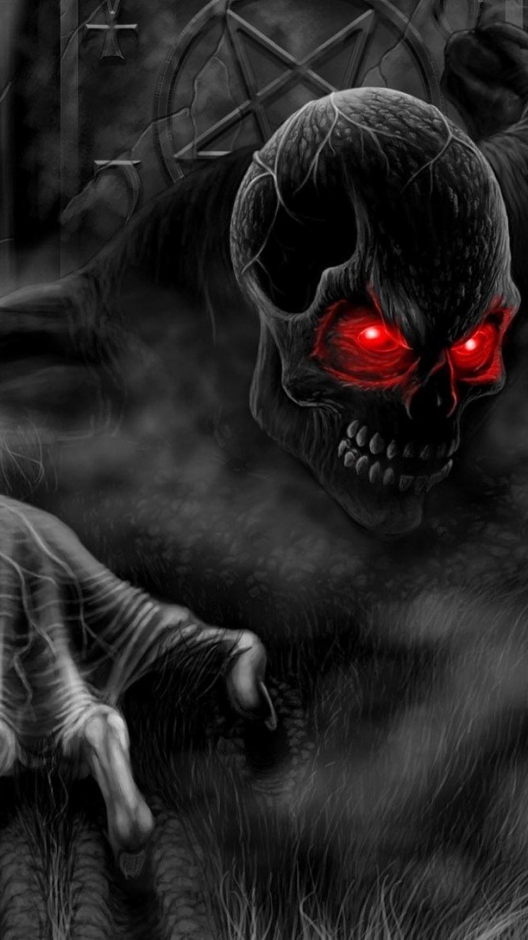 Horror creepy black death dark monsters gothic wallpaper 69249 1080x1920