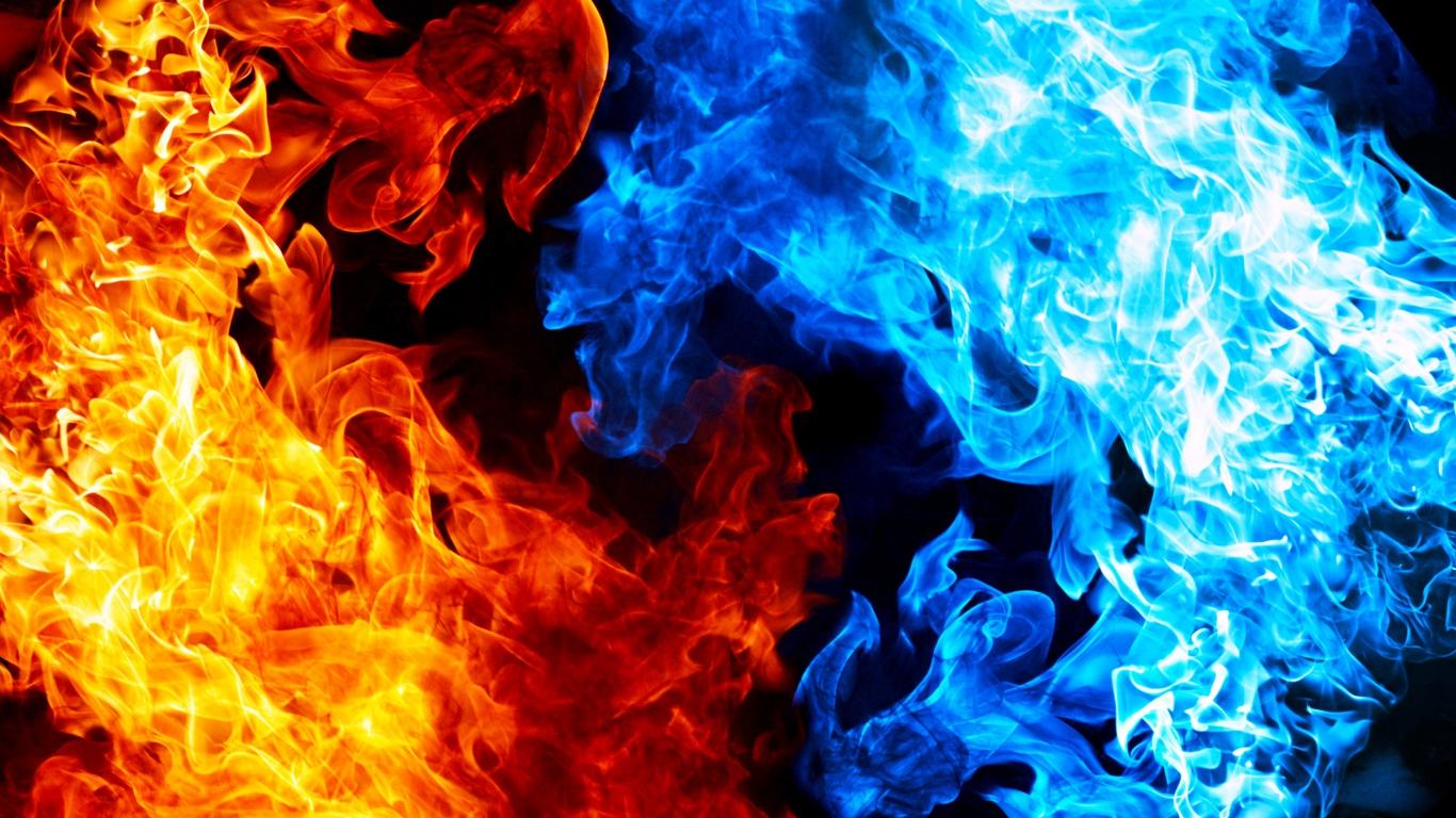 Red Yellow Blue Flame Texture Pattern Flames Fire Smoke WallpapersByte 1366x768