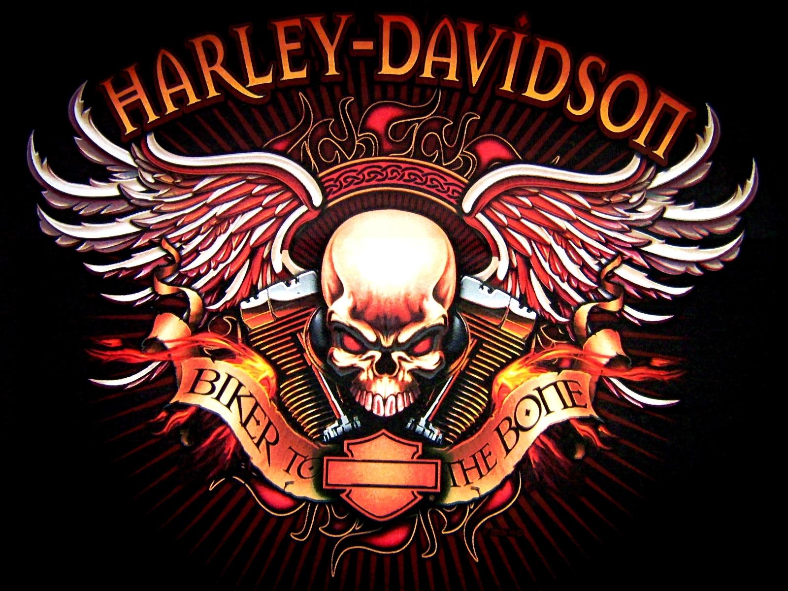 Harley Davidson logo skull bikes motorcycle wallpaper background 1600x1200