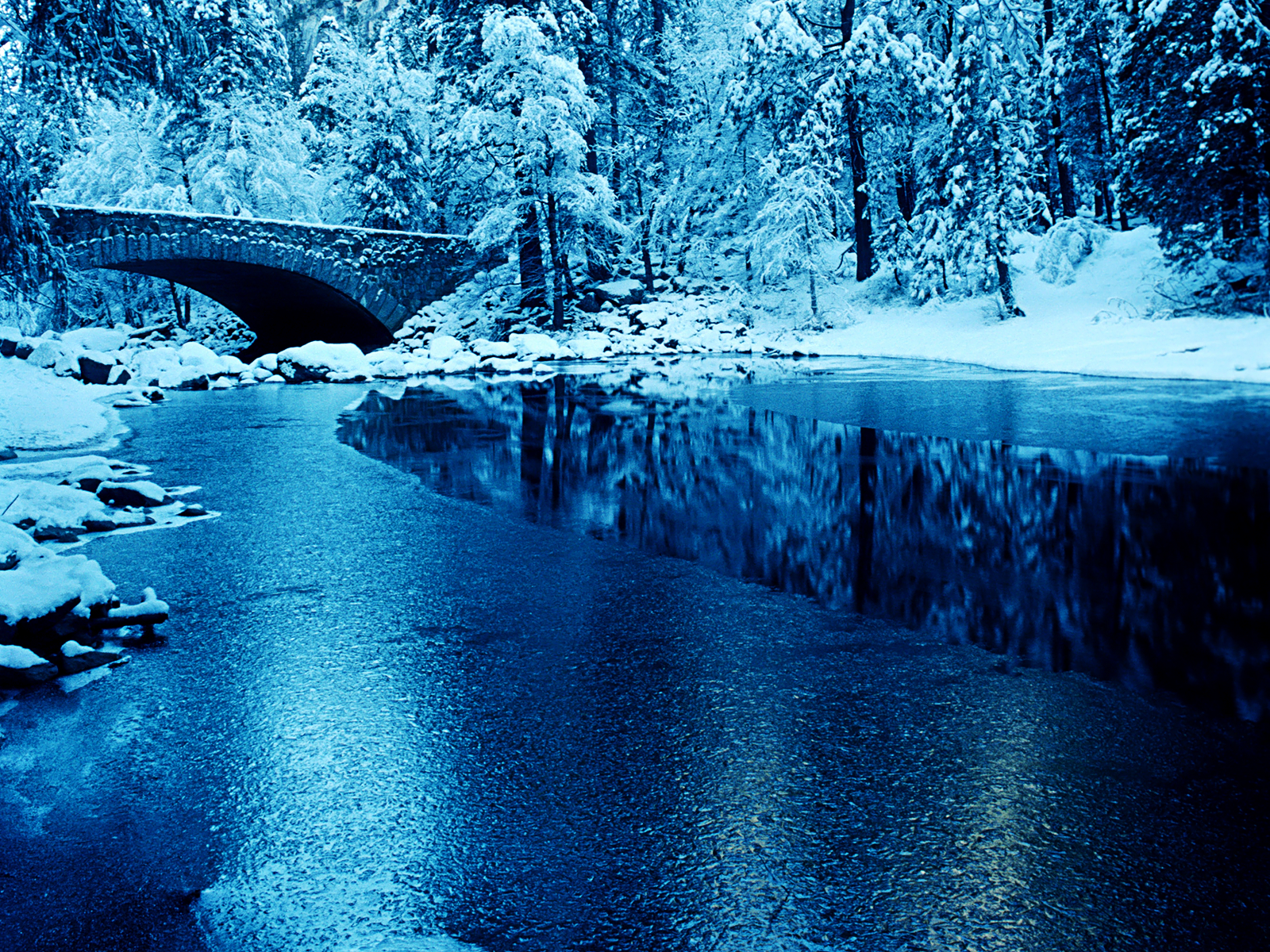 Yosemite Winter Snow wallpaper Conservatives Mistake 1600x1200