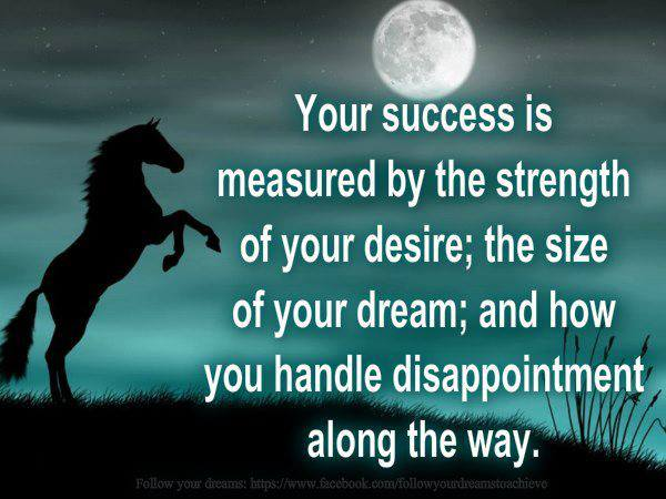 Wallpaper on Success Success is measured by the strength of desire 600x450