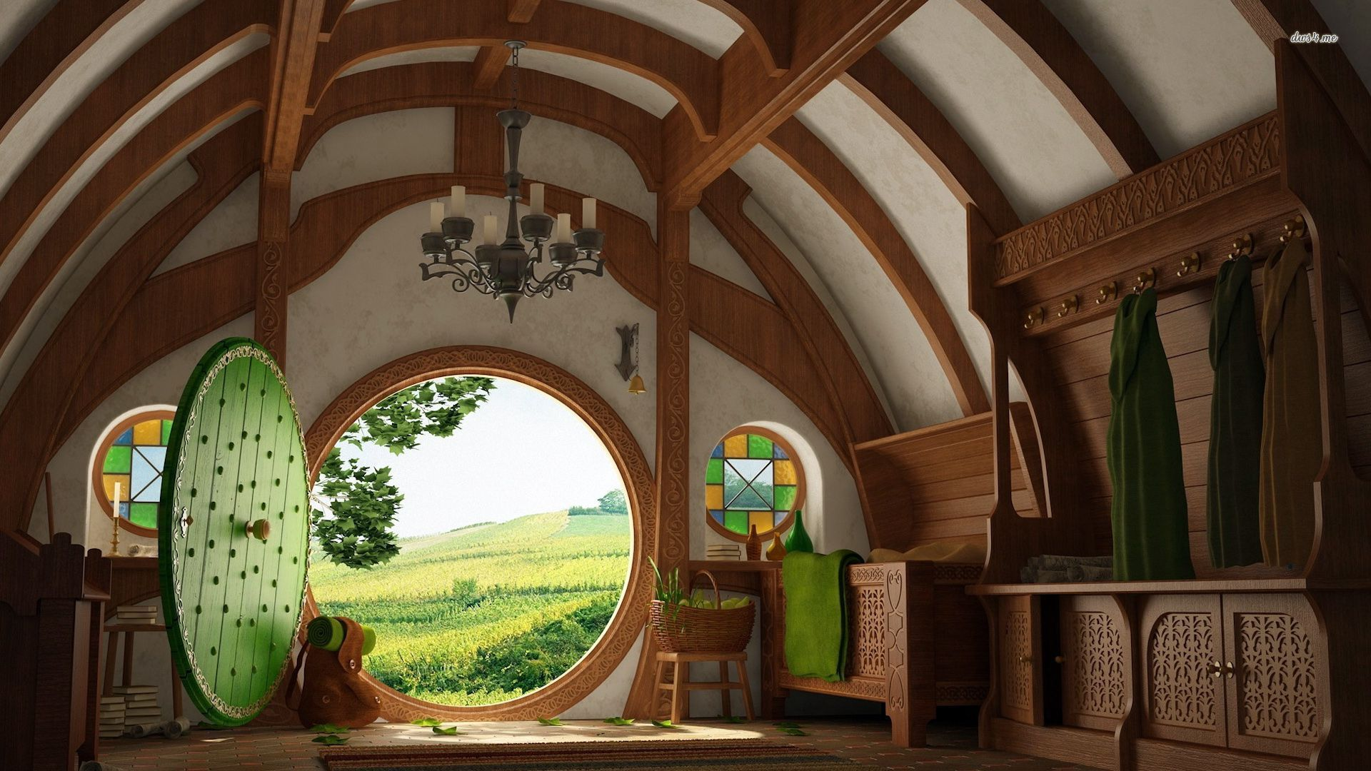 Hobbit House wallpaper 1920x1080