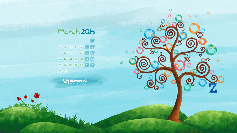 Desktop Wallpaper Calendars March 2015 DigitalMofo 1000x562